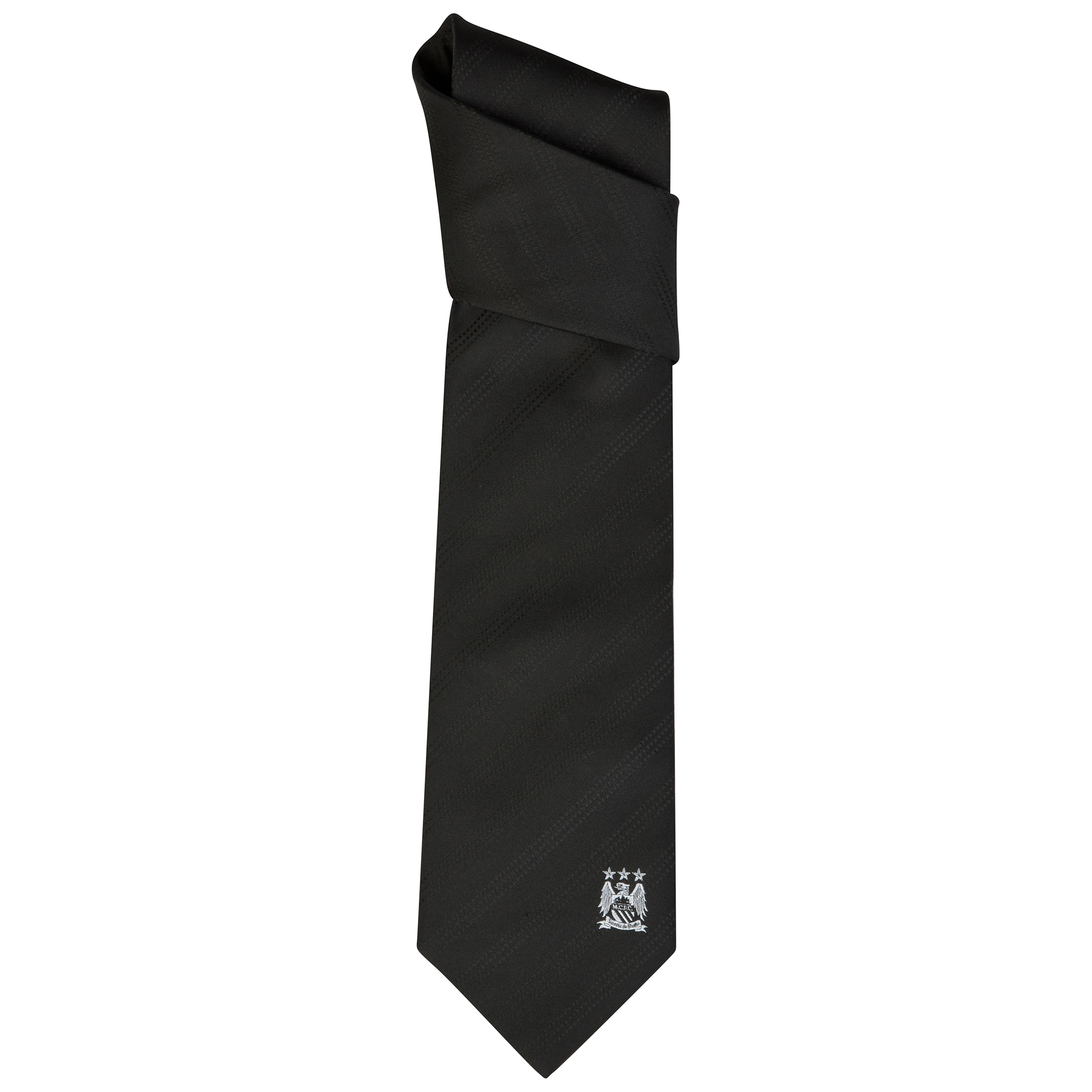 Manchester City Plain Black Tie 2 Tone