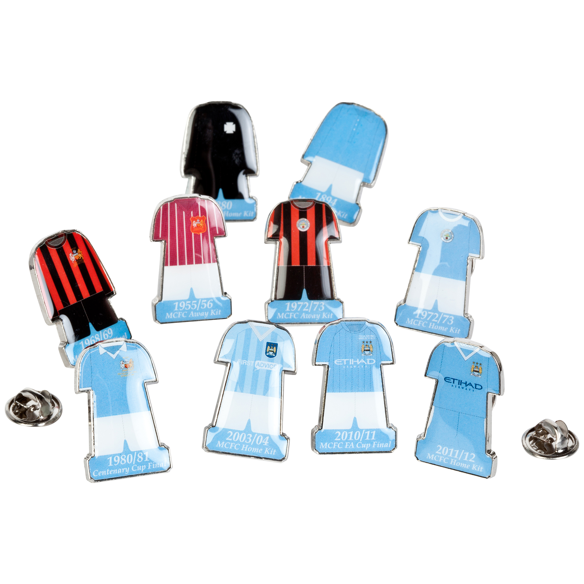 Manchester City Retro Kit Badge Gift Set