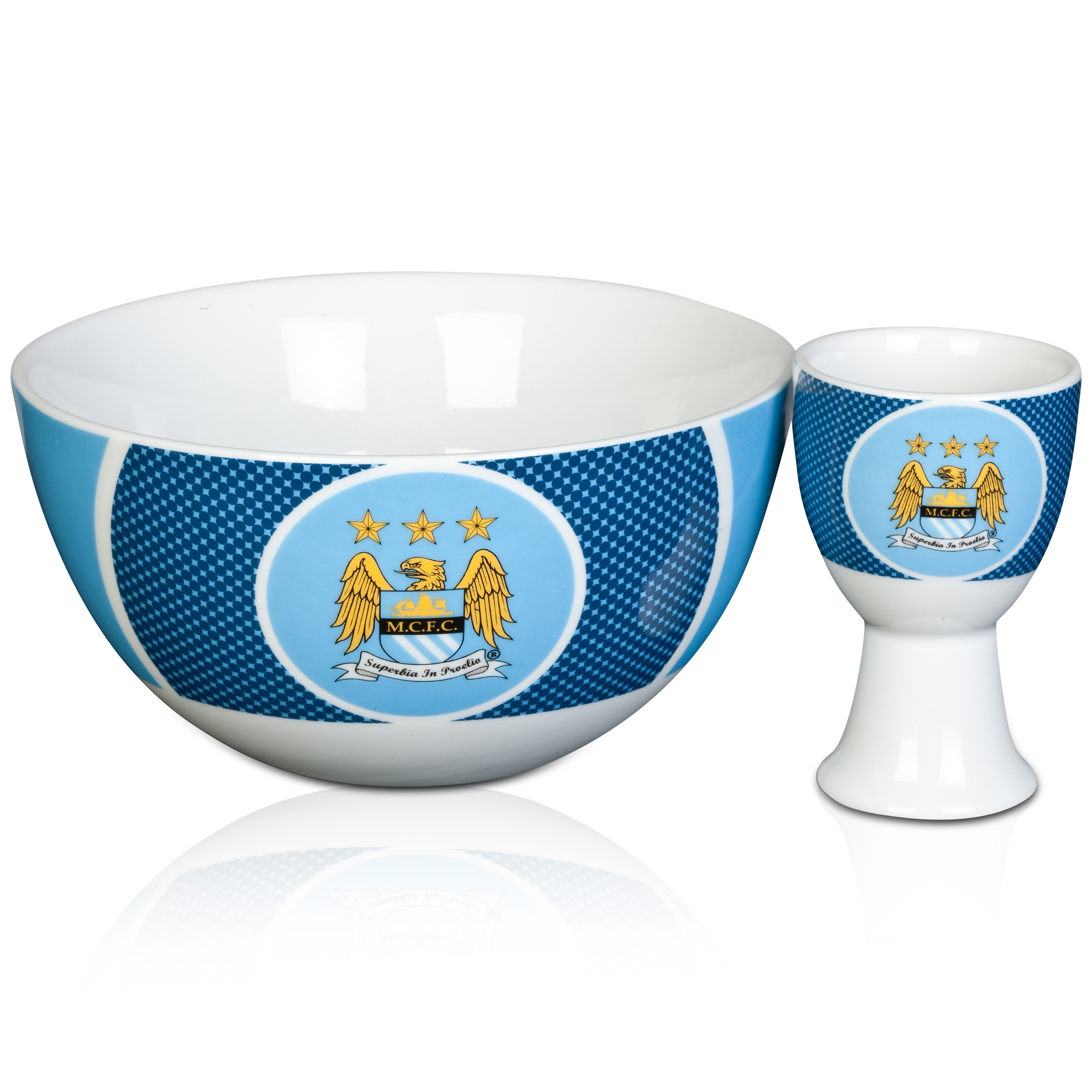 Manchester City Bullseye cereal bowl and egg cup set