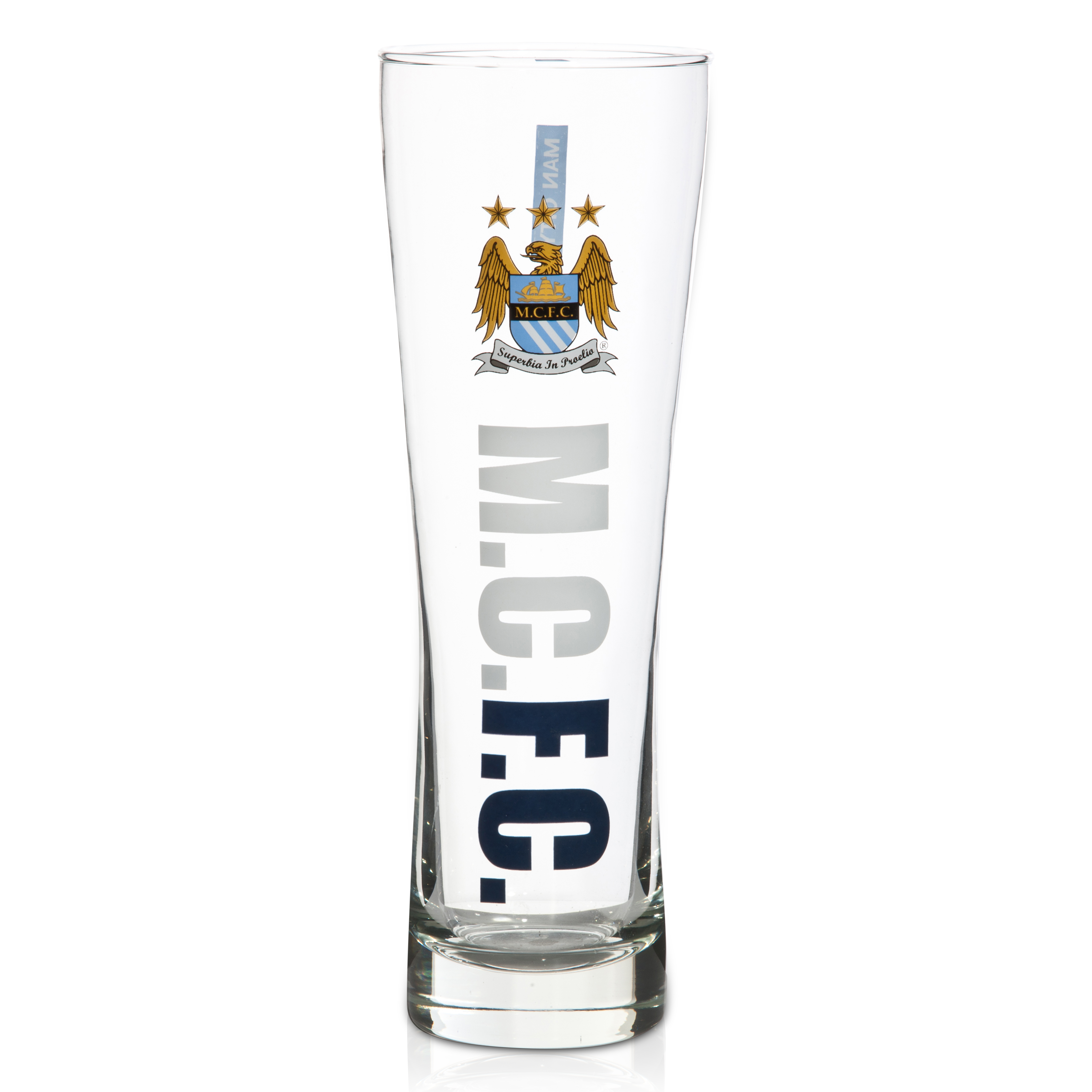 Manchester City Workmark Slim Pint Glass