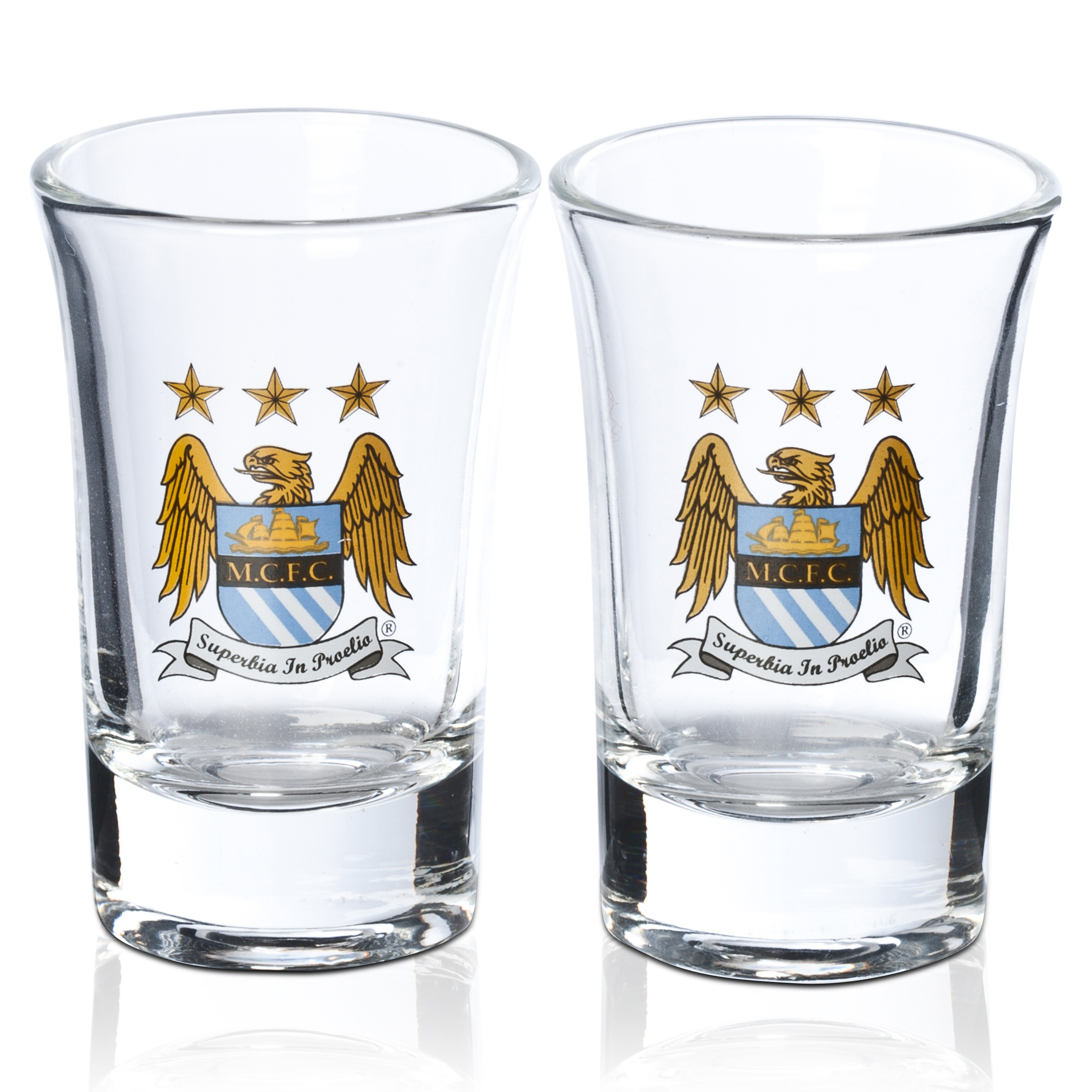 Manchester City 2 pk shot glass