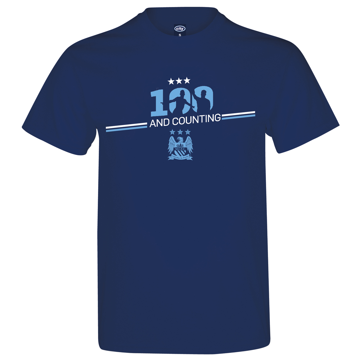 Manchester City 100 Goals T-Shirts Navy