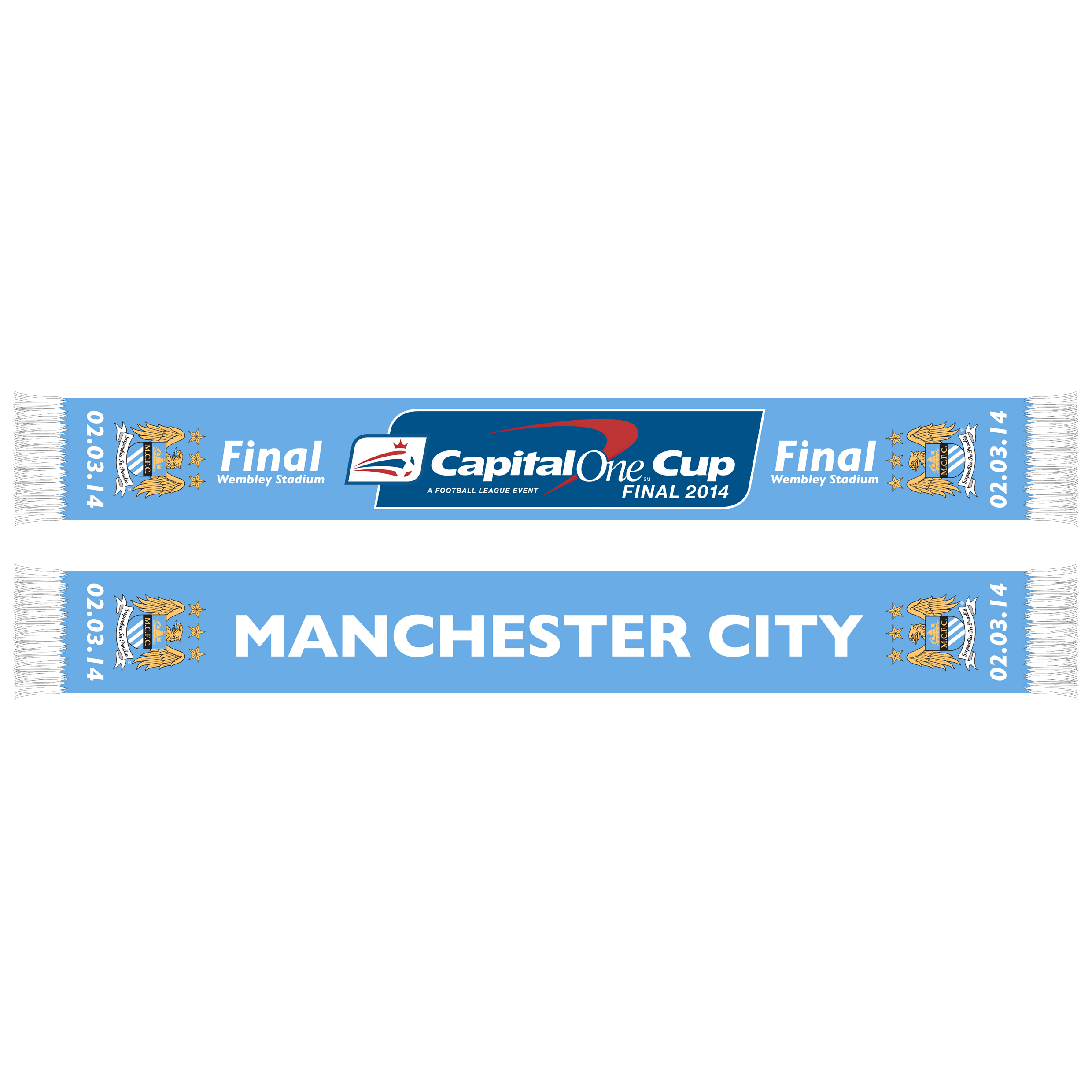 Manchester City Capital One Final Scarf