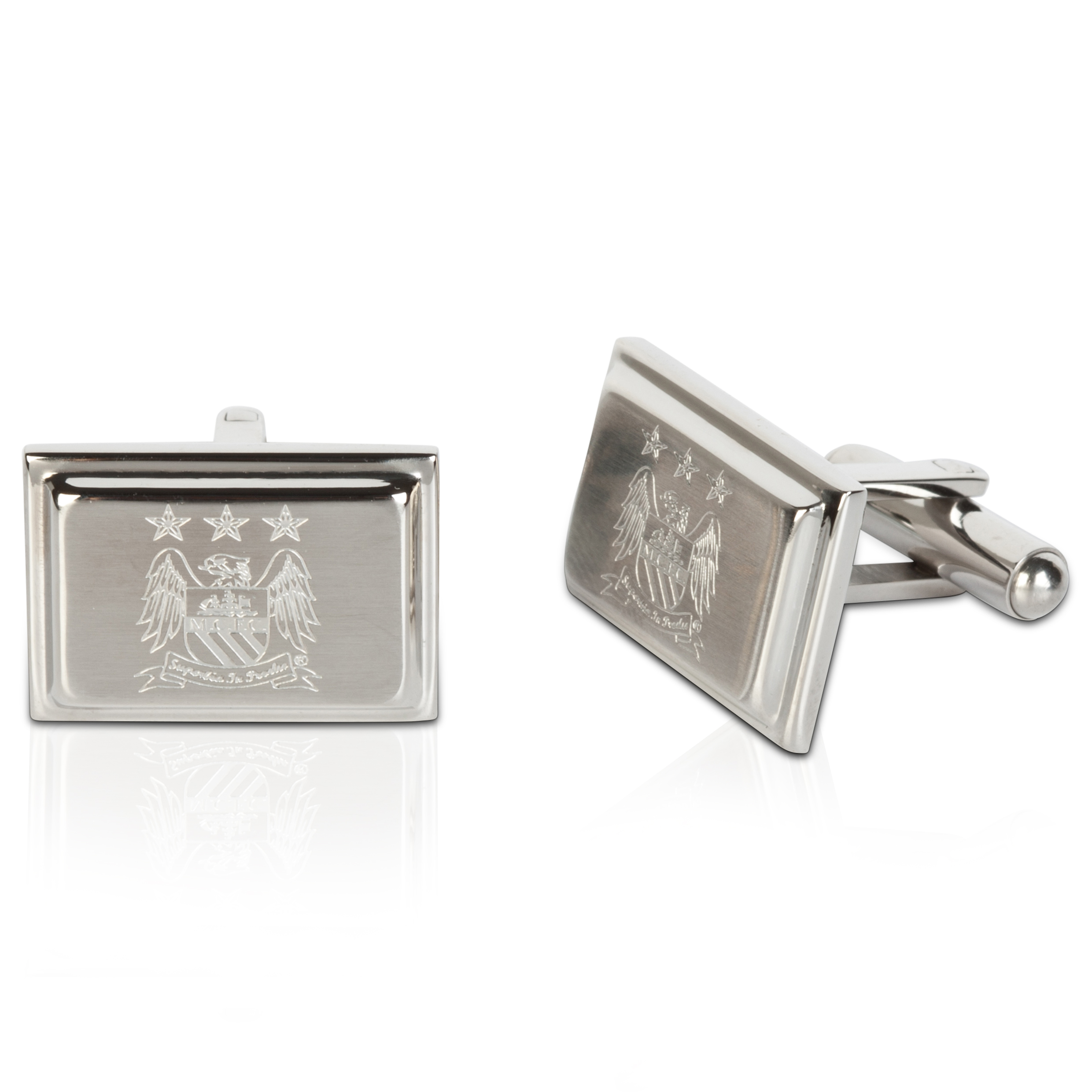 Manchester City Stainless Steel Rectangular Cufflinks