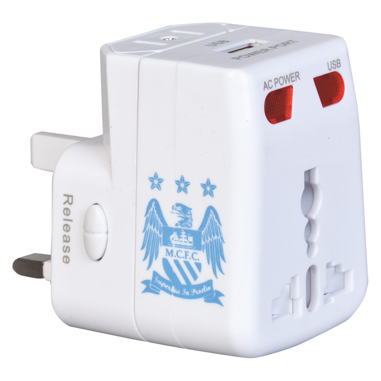 Manchester City Usb Travel Adaptor