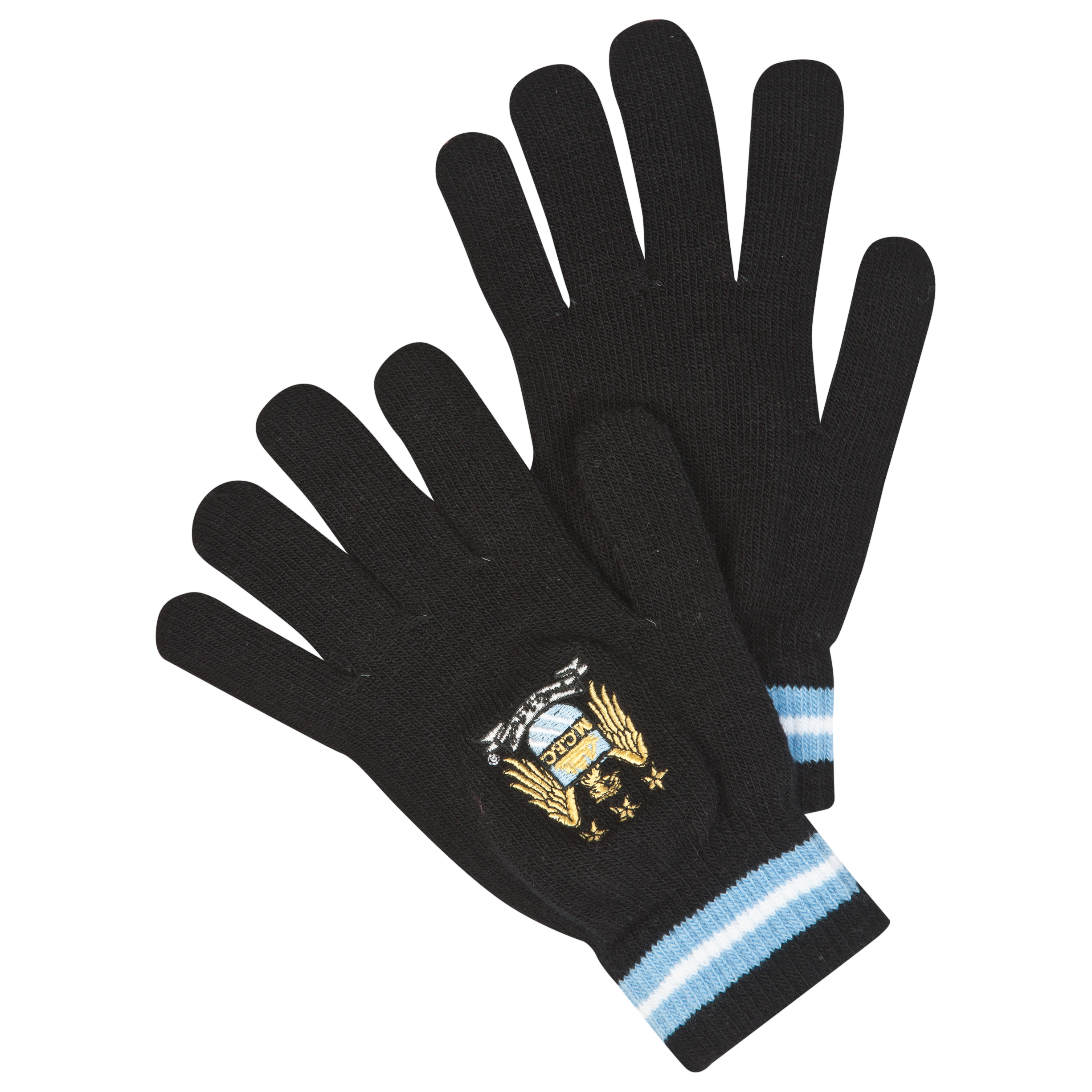 Manchester City Knitted Gloves Junior Black