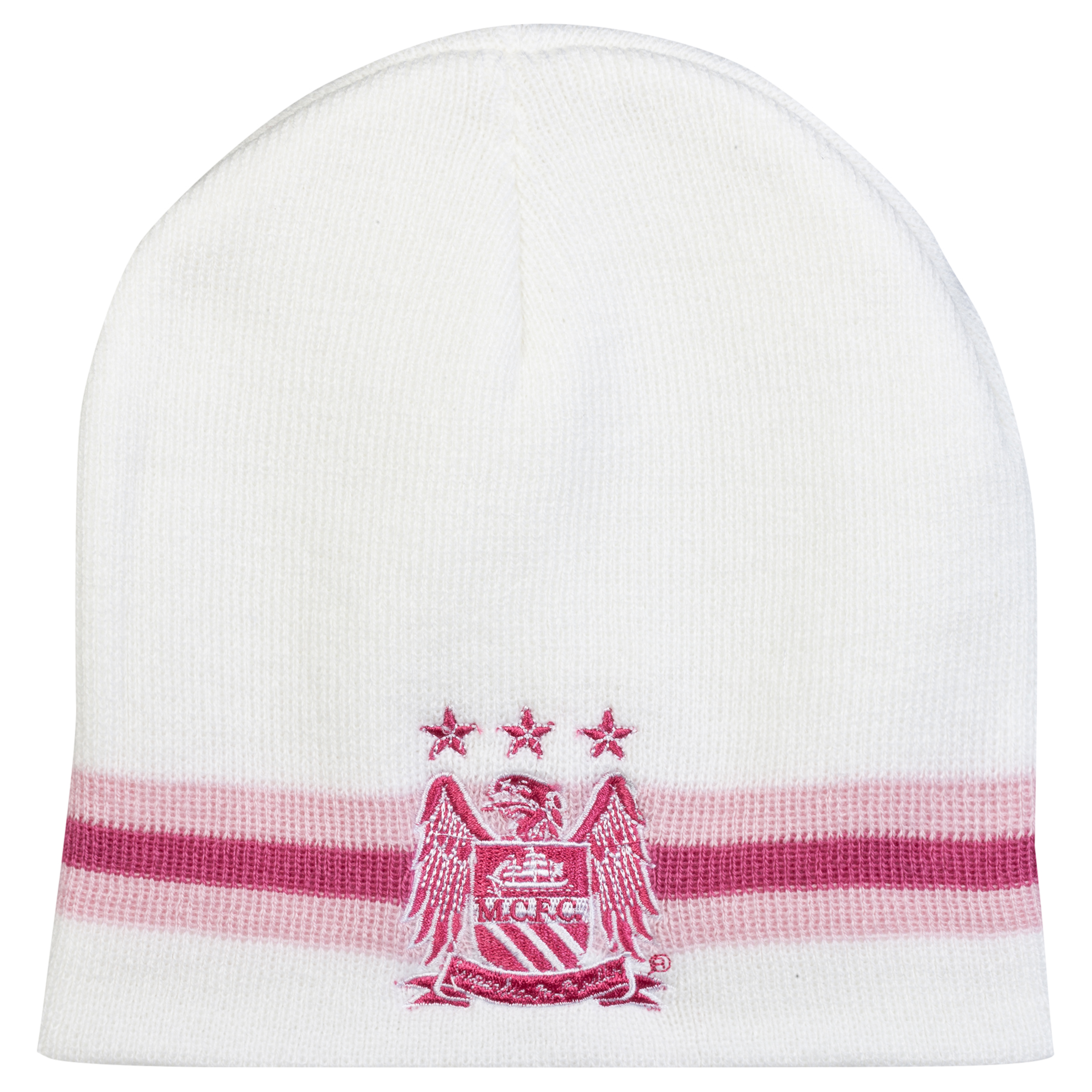 Manchester City Core Girls Beanie Hat - Pink/White
