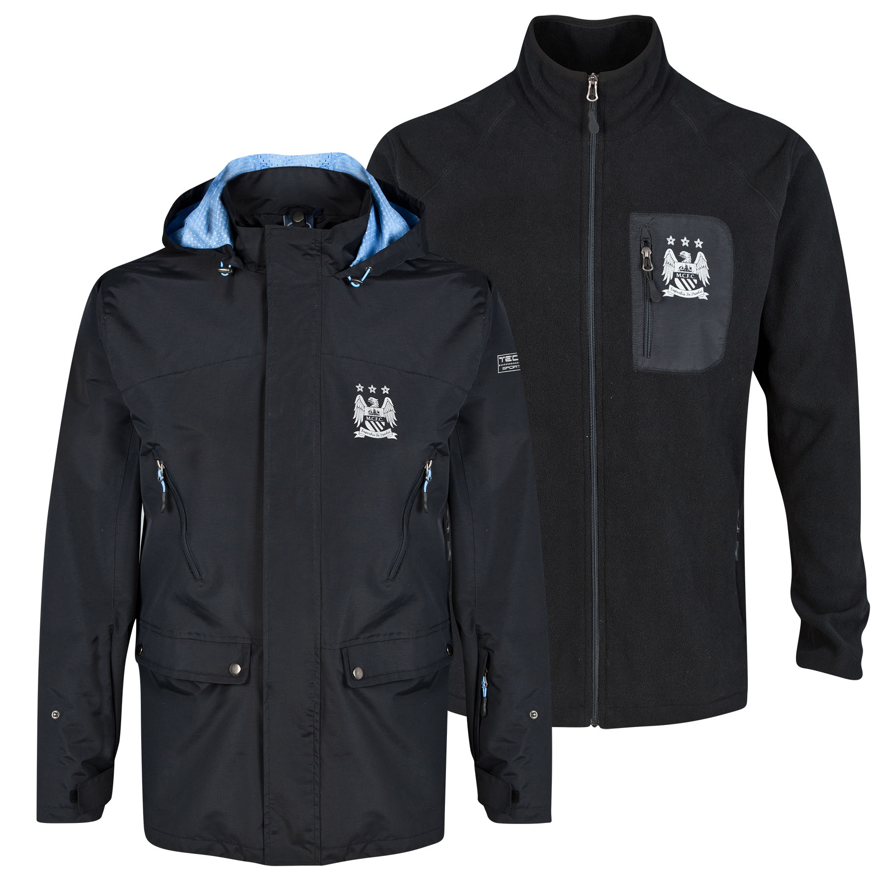 Manchester City 3in1 Triclimate Jacket - Black - Mens