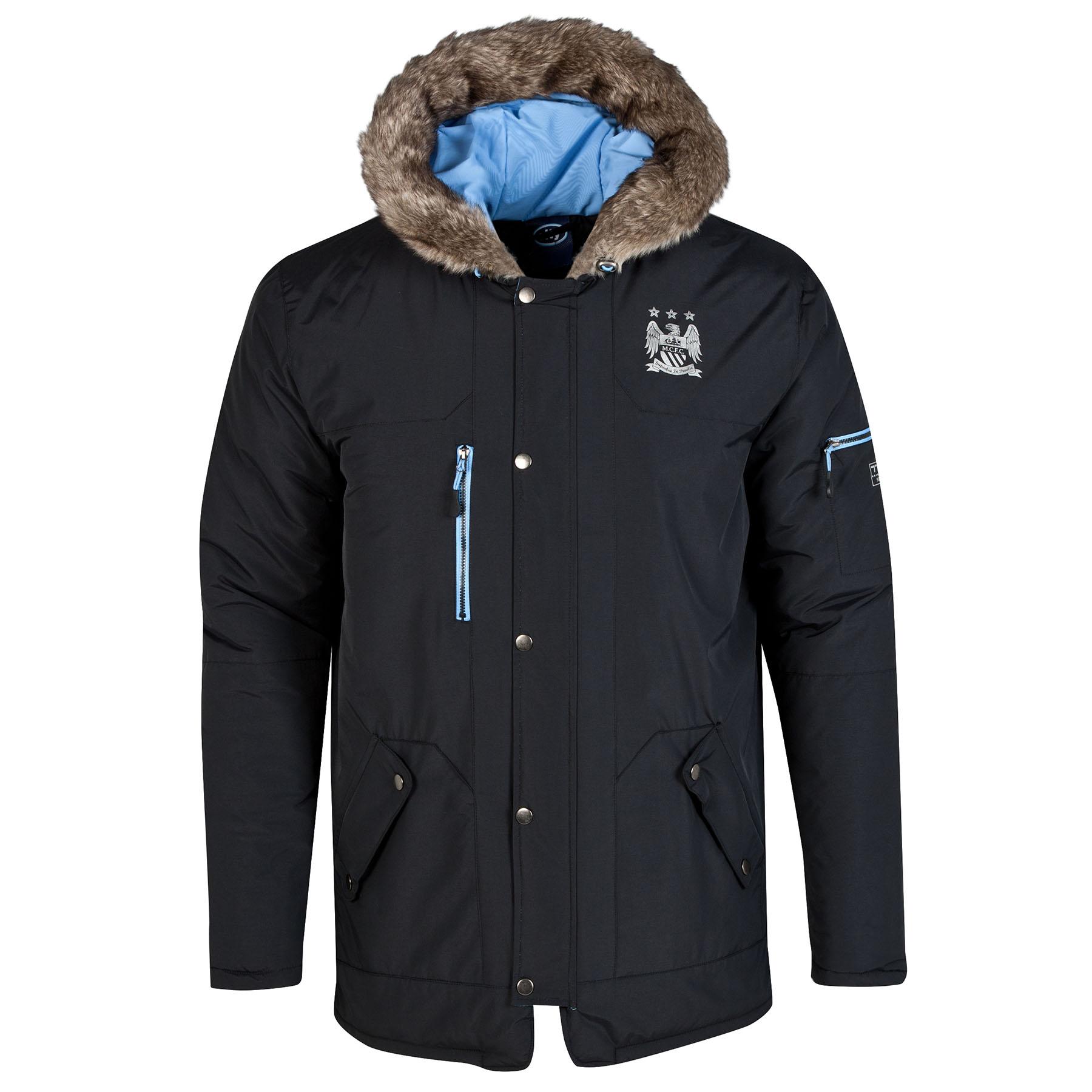 Manchester City Parka Coat - Black - Mens