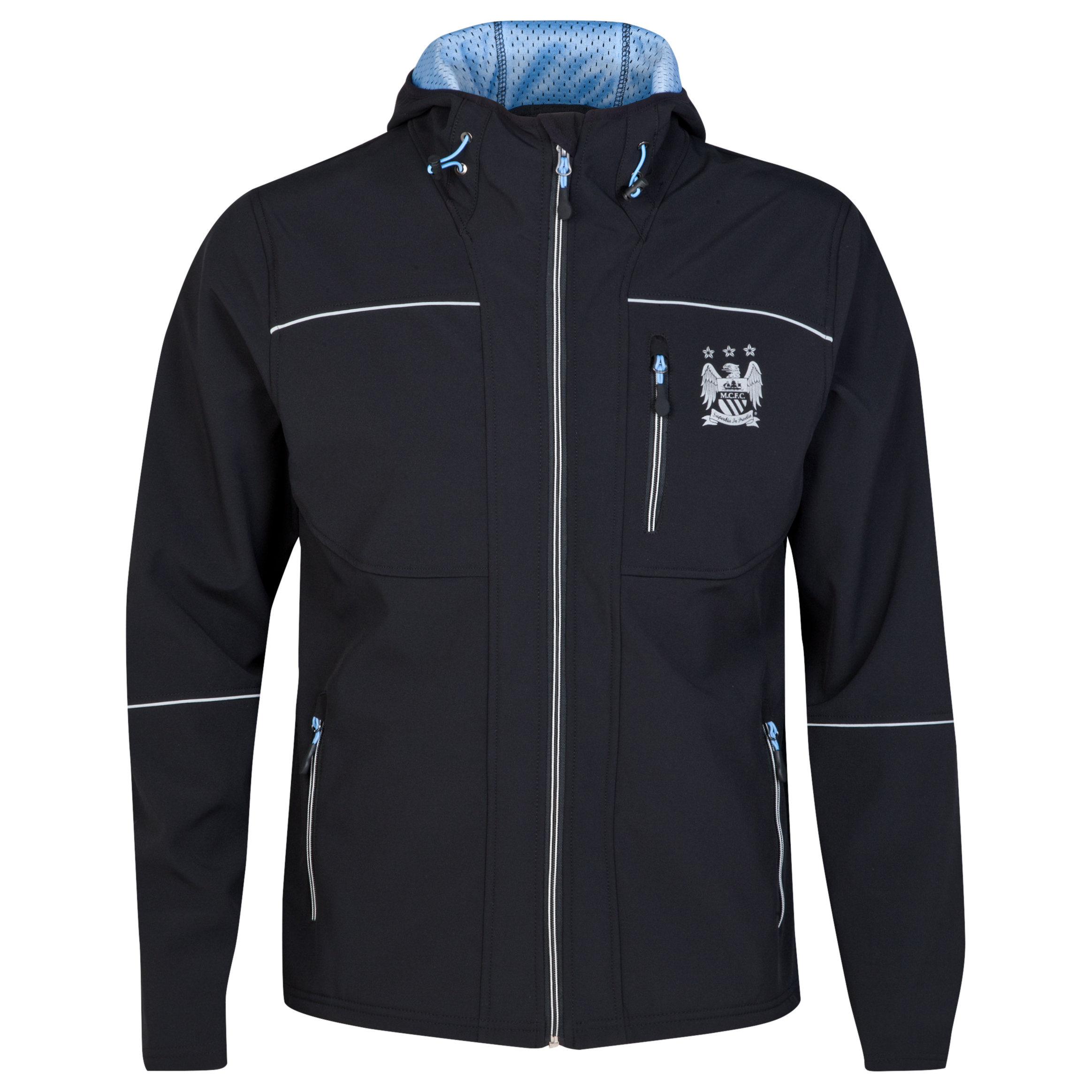 Manchester City Softshell Jacket - Black - Mens