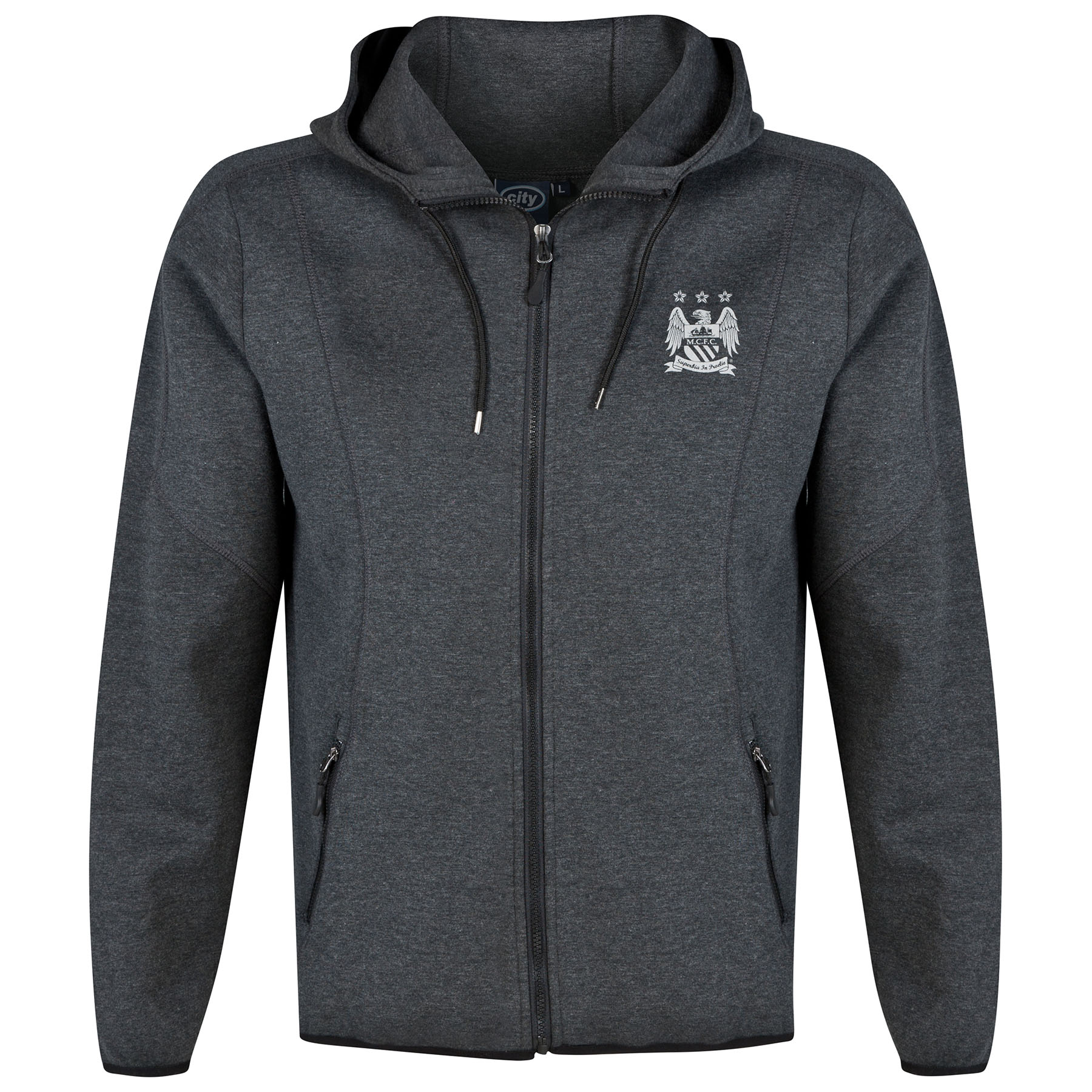 Manchester City Technical Hoodie - Charcoal Marl - Mens
