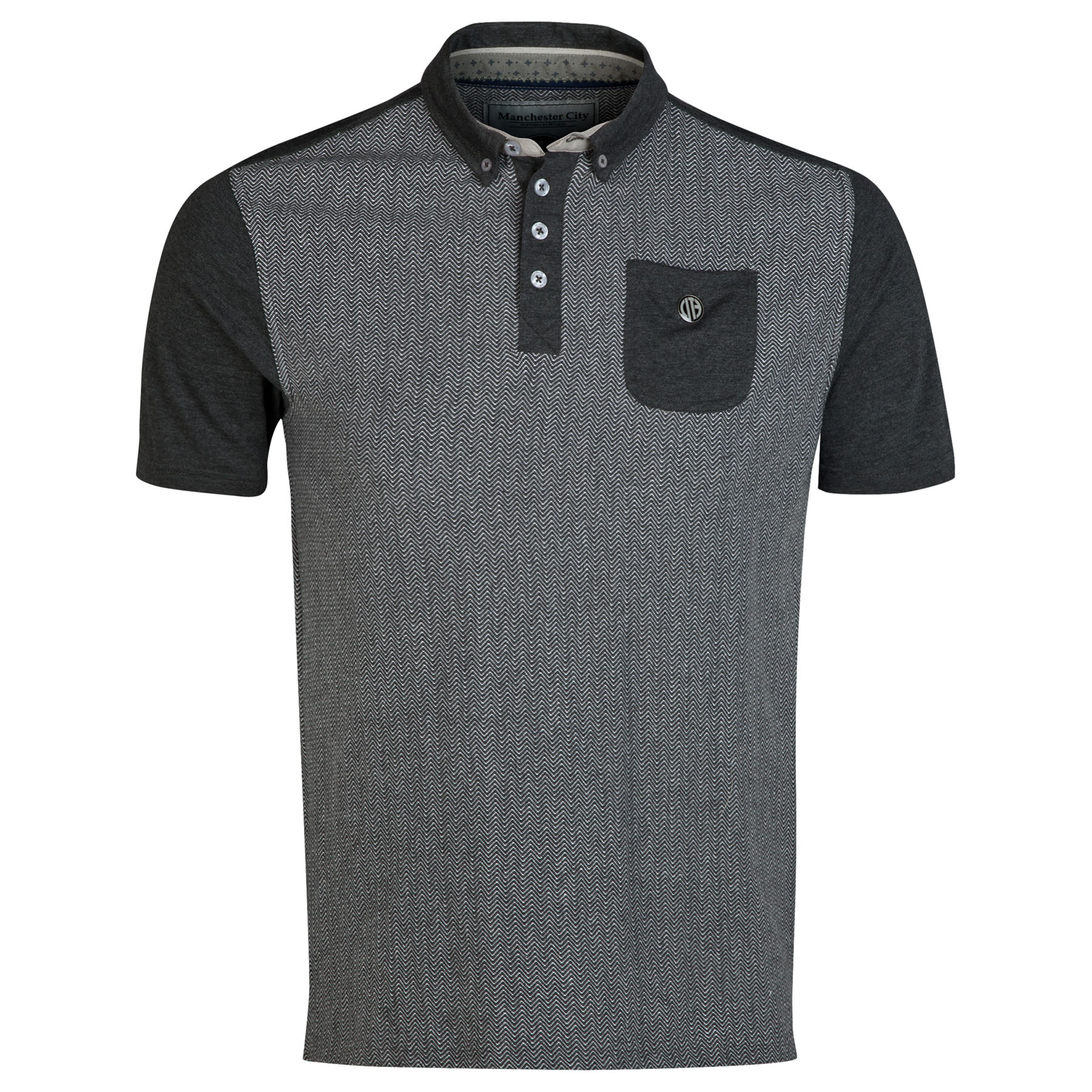 Manchester City Polo Shirt - Charcoal - Mens