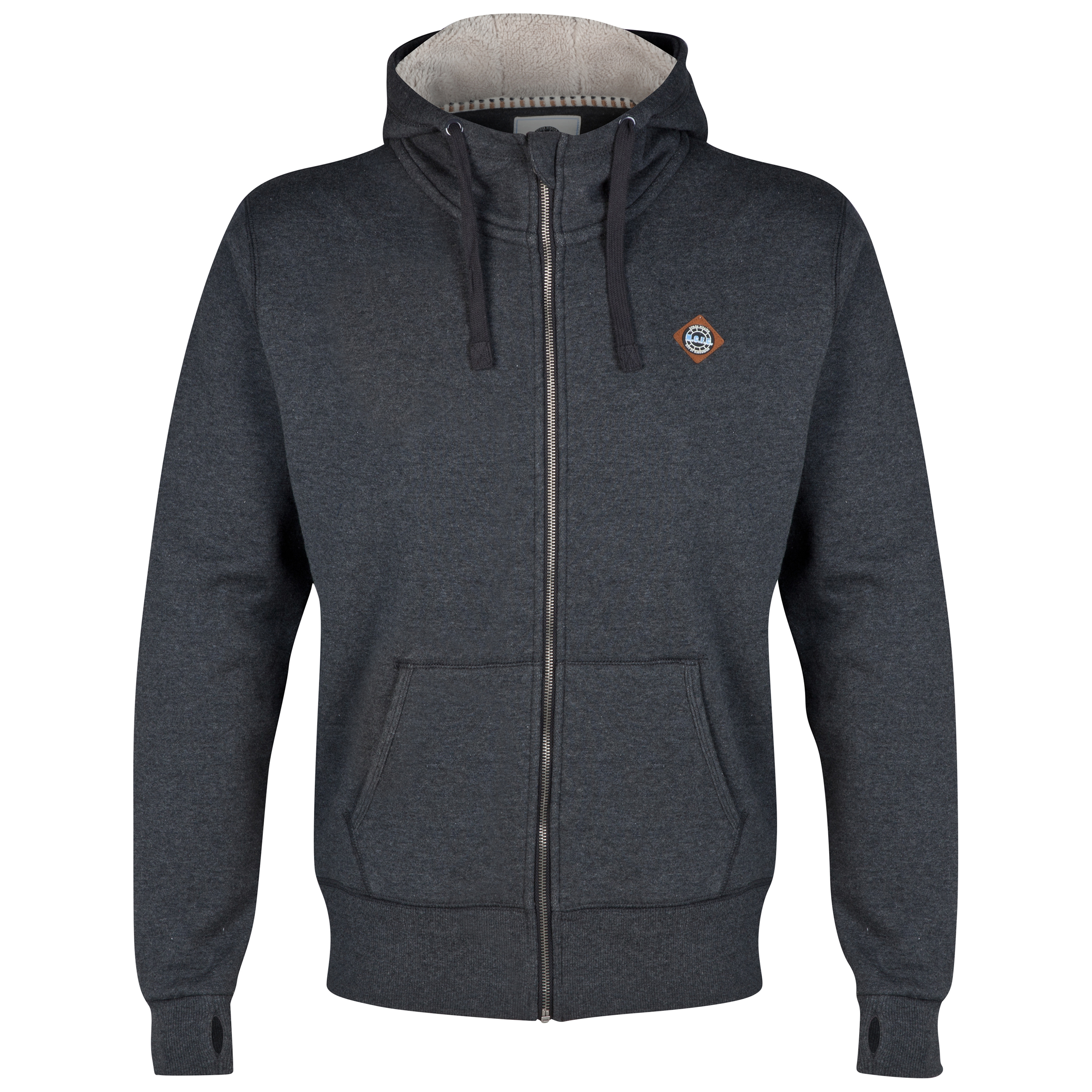 Manchester City Sherpa Hoodie - Charcoal- Mens
