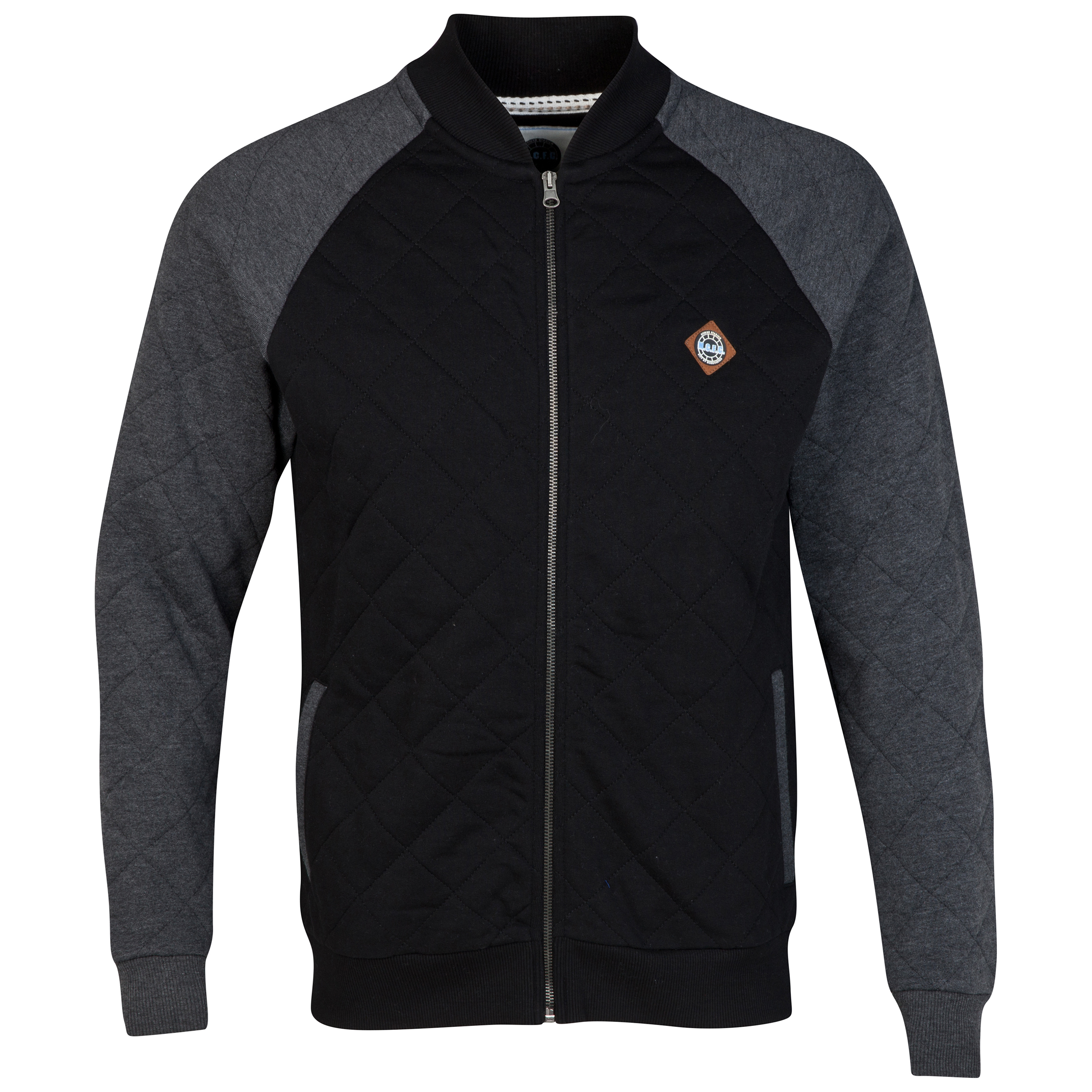 Manchester City Bomber Jacket - Black/Charcoal- Mens