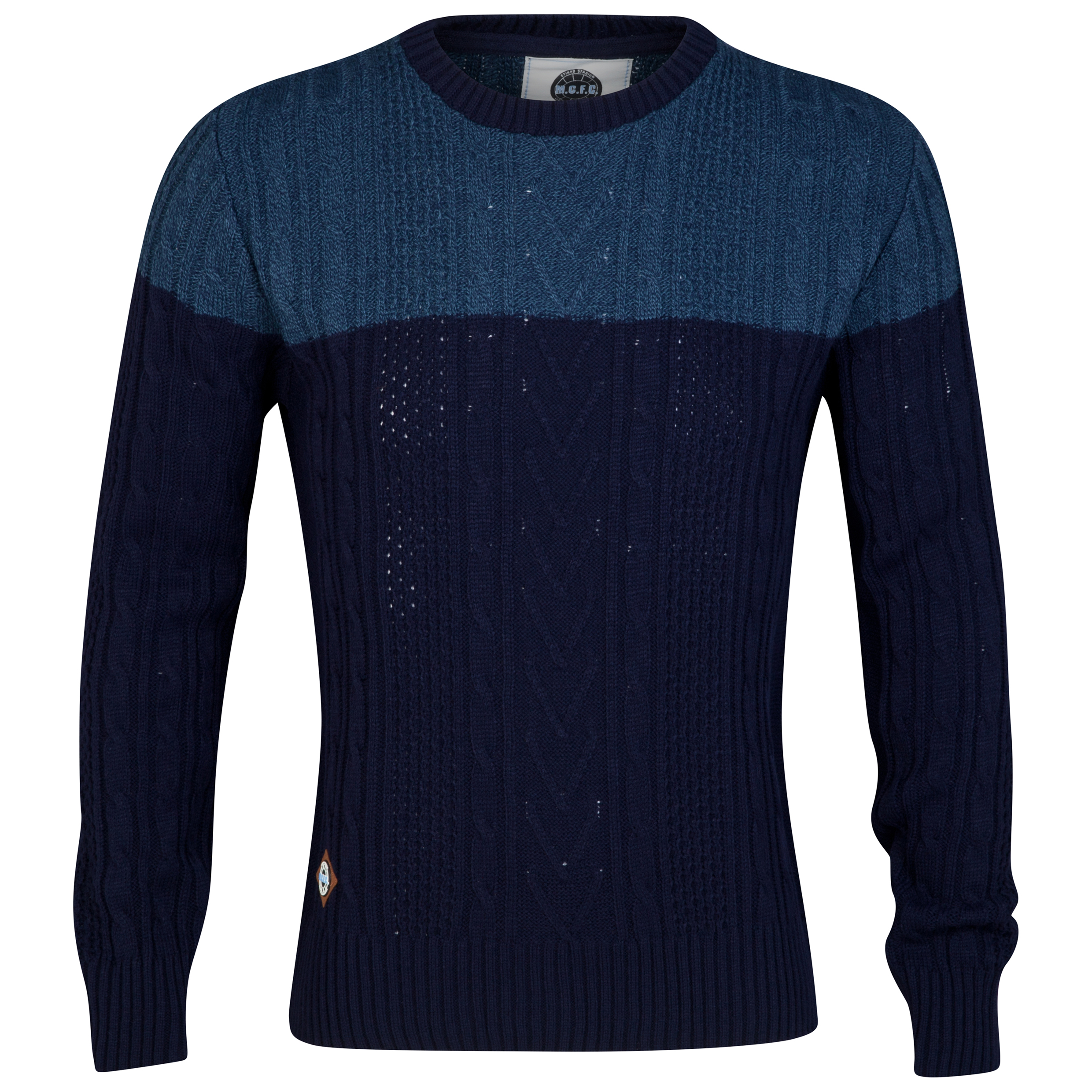 Manchester City Jumper - Navy/Grey - Mens