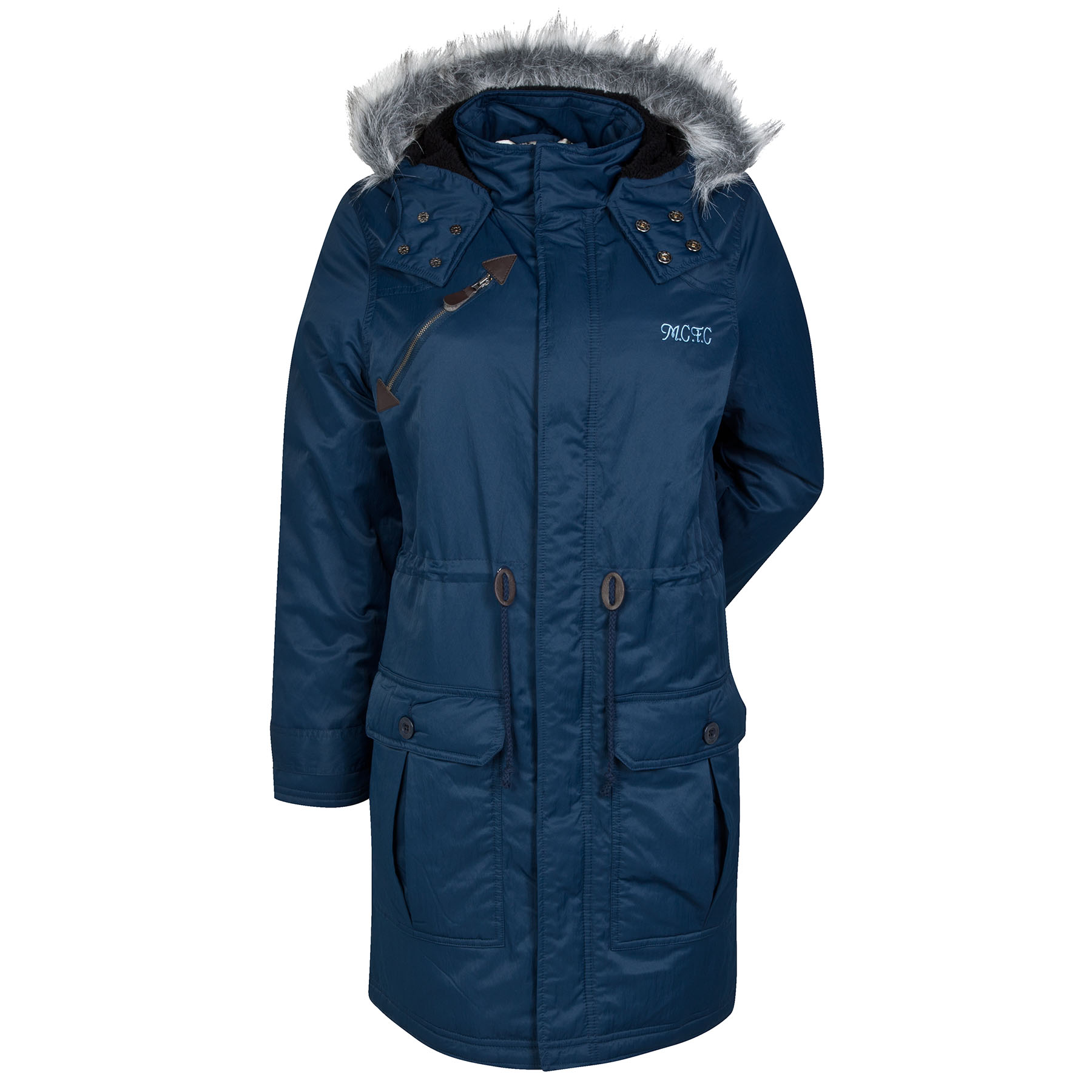 Manchester City Parka Coat - Navy - Womens