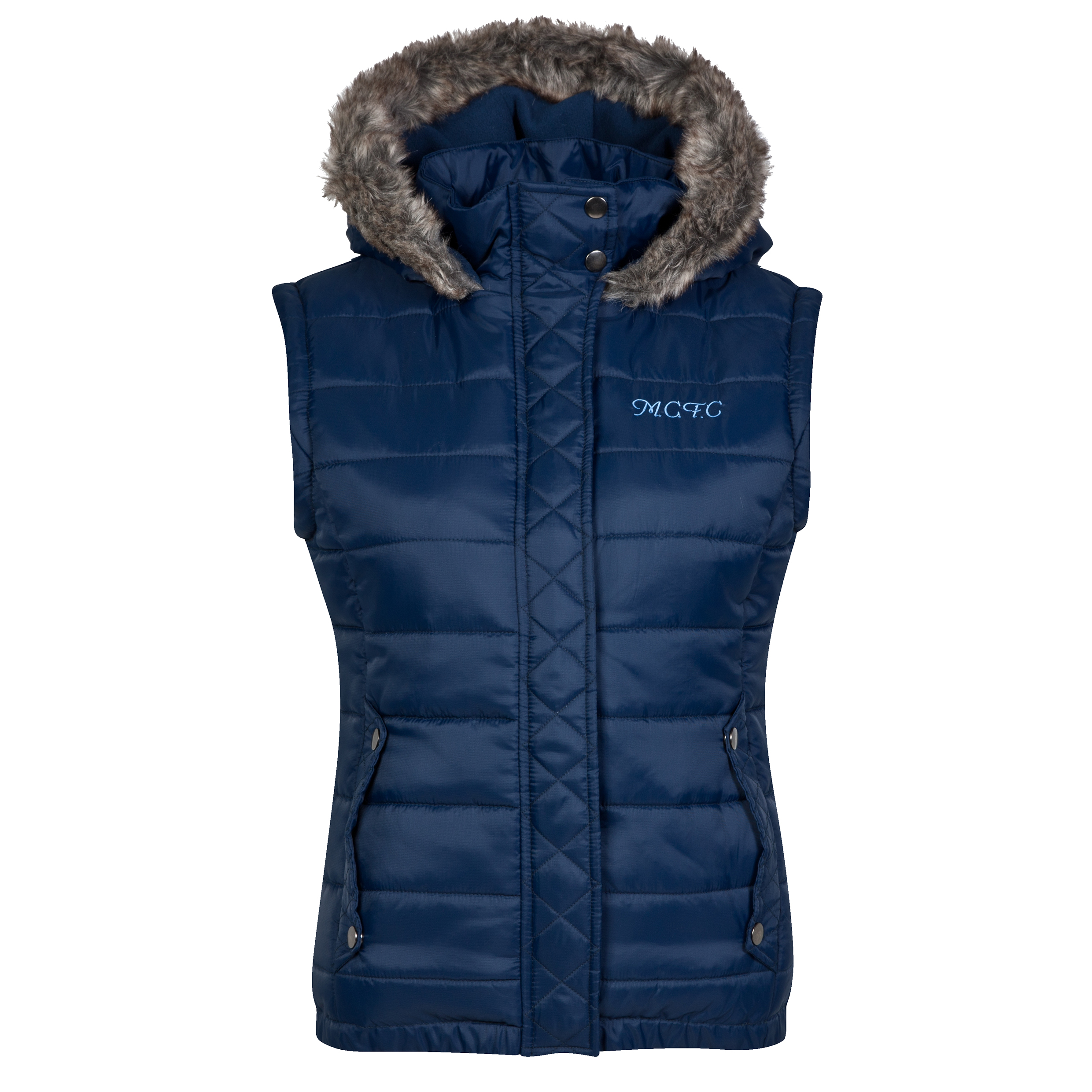 Manchester City Gilet - Navy - Womens