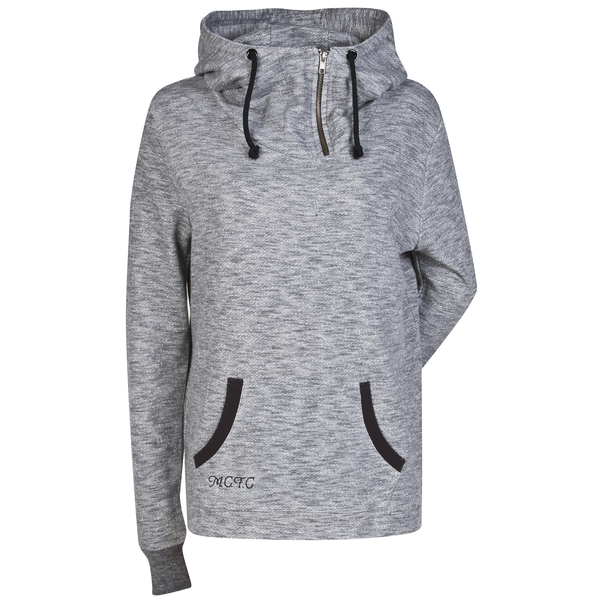 Manchester City Hoodie - Grey Marls - Womens