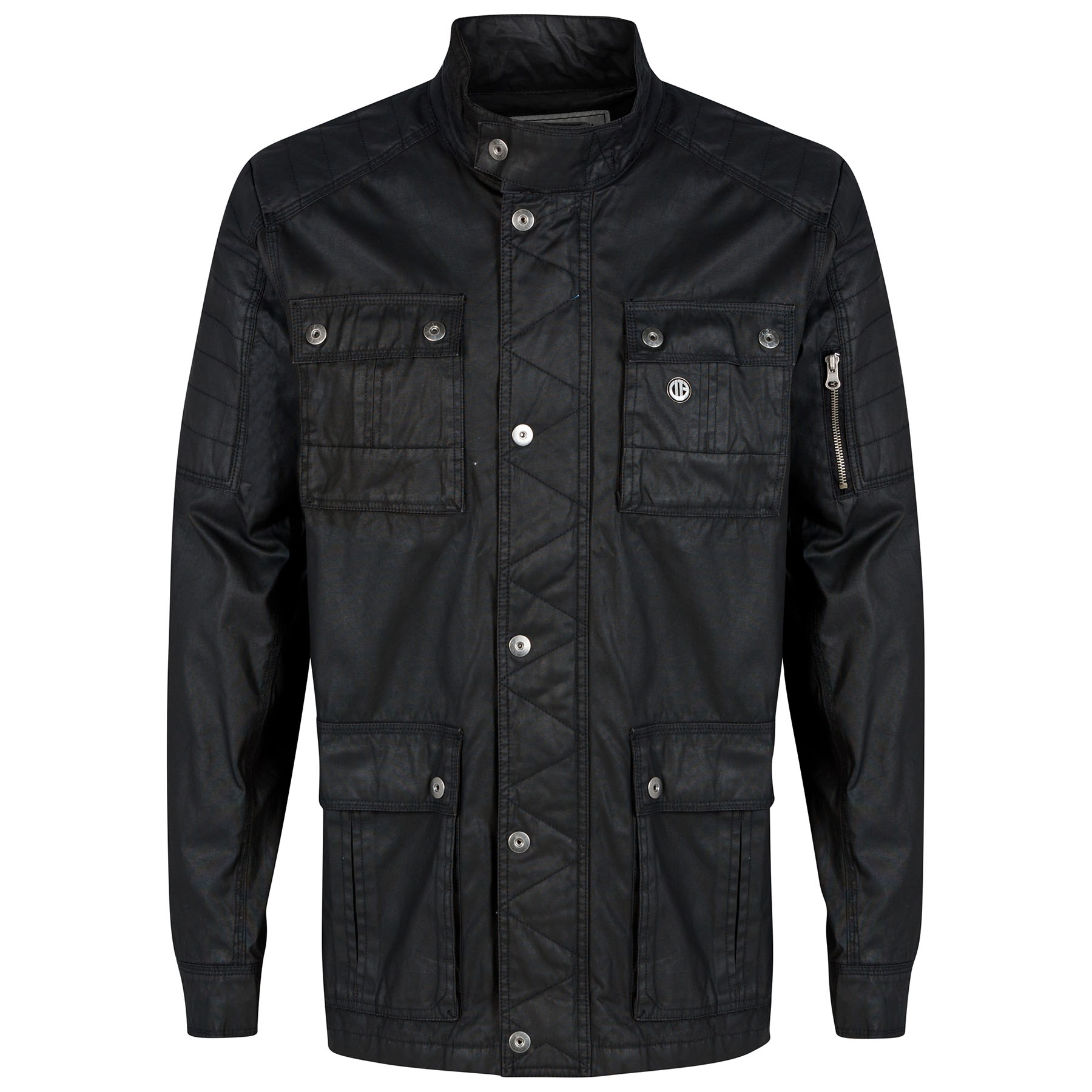 Manchester City Wax Jacket - Charcoal - Mens