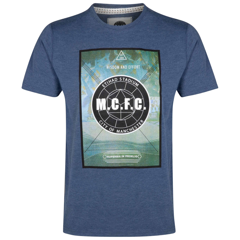 Manchester City T-Shirt - Denim Marl - Mens
