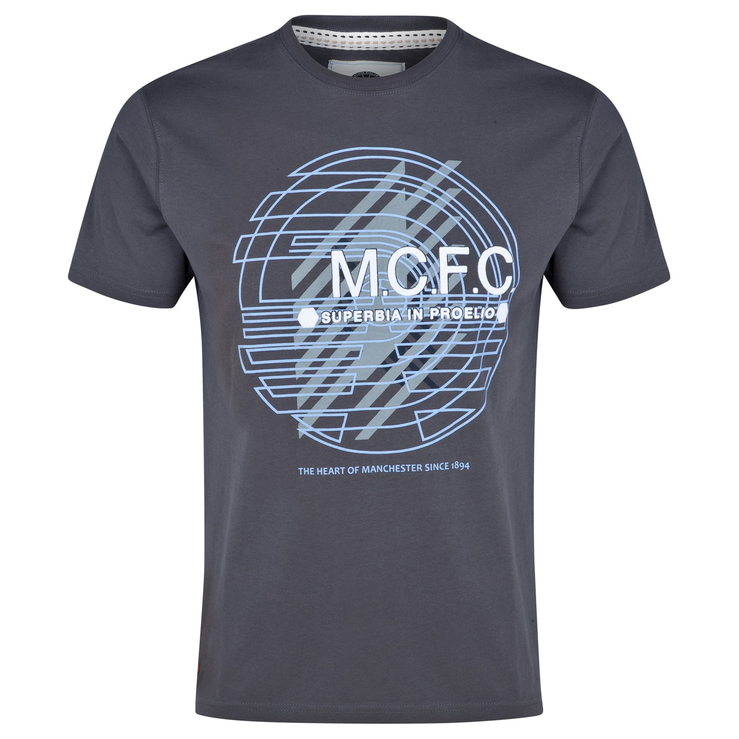 Manchester City T-Shirt - Charcoal - Mens