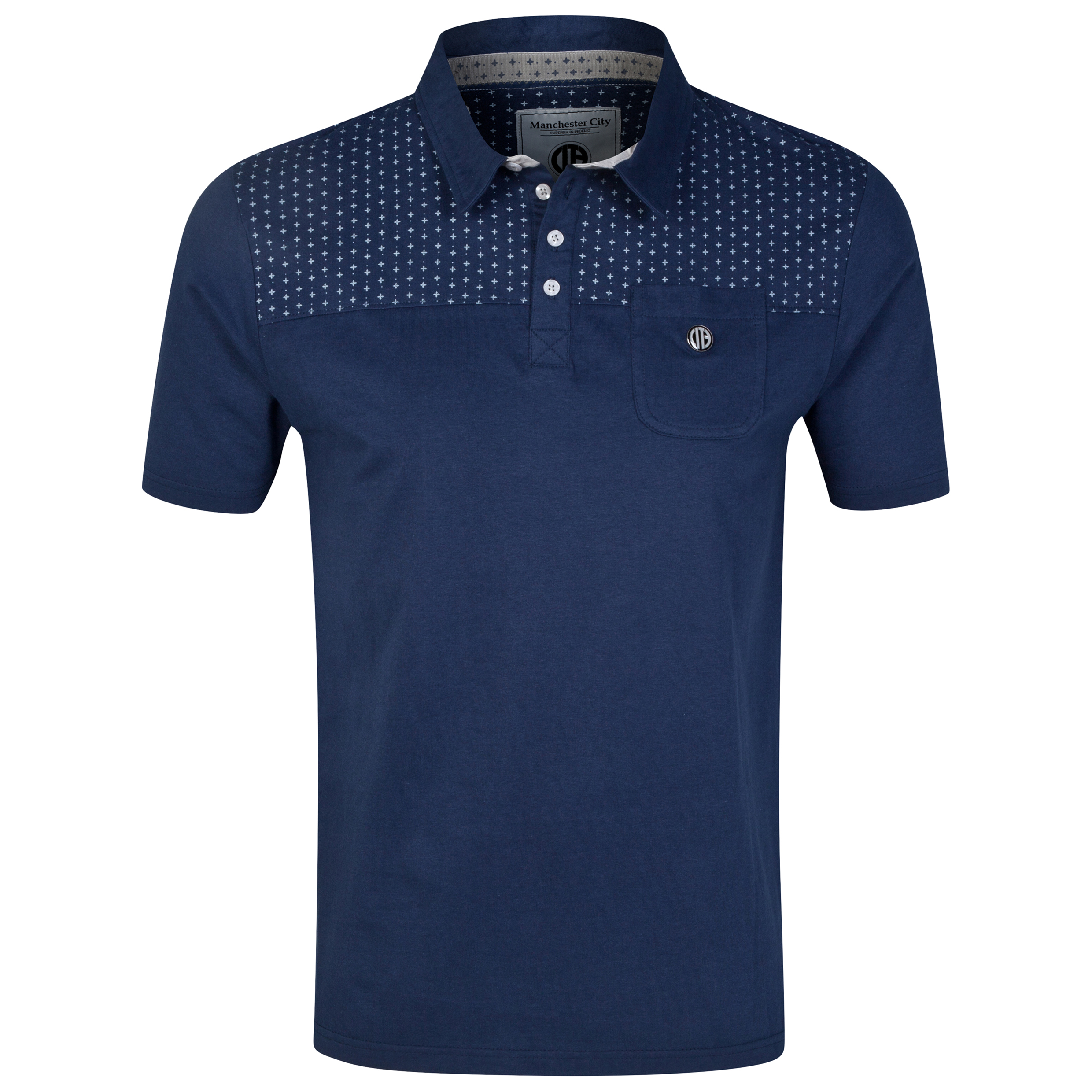 Manchester City Polo Shirt - Navy - Mens