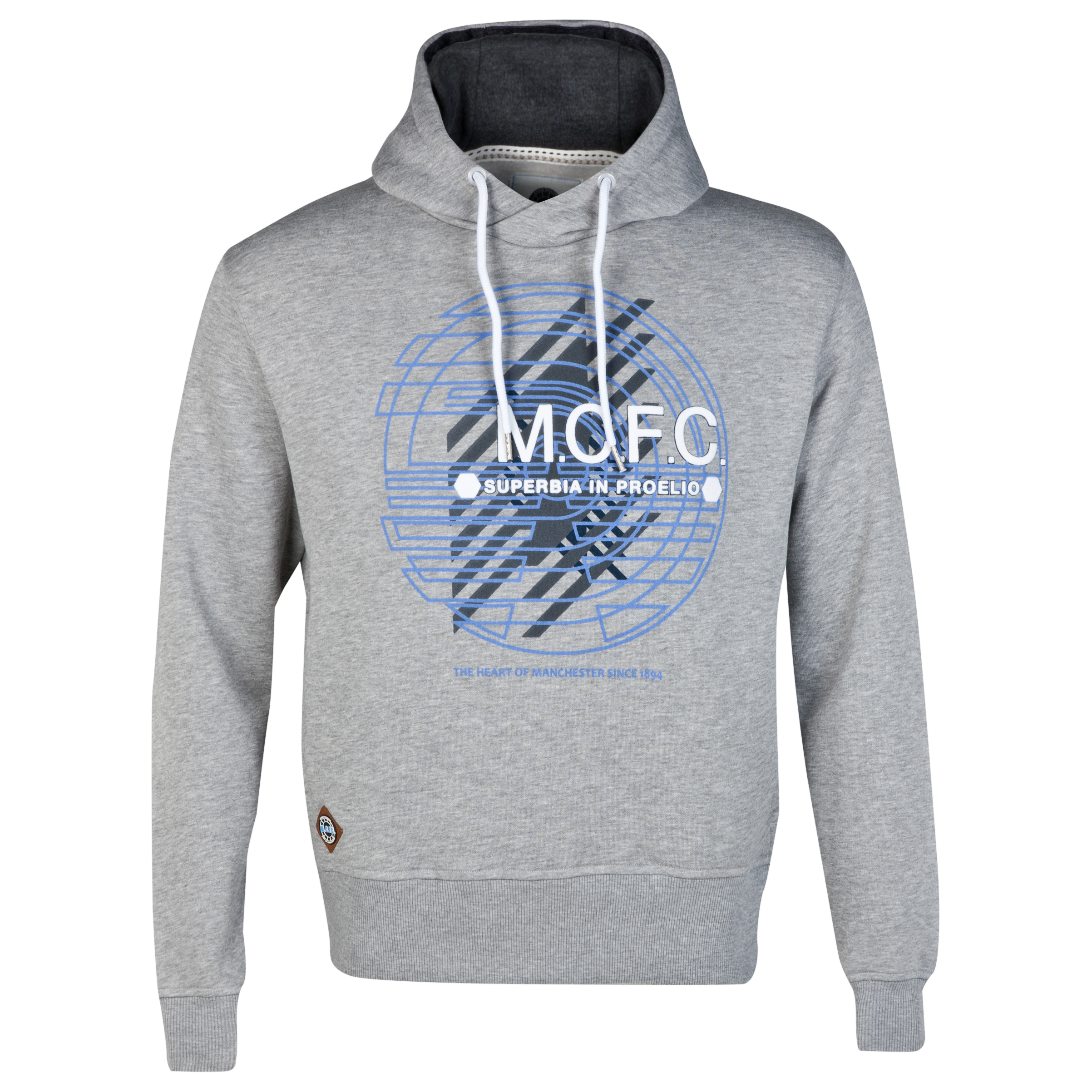 Manchester City Graphic Hoodie- Grey - Older Boys