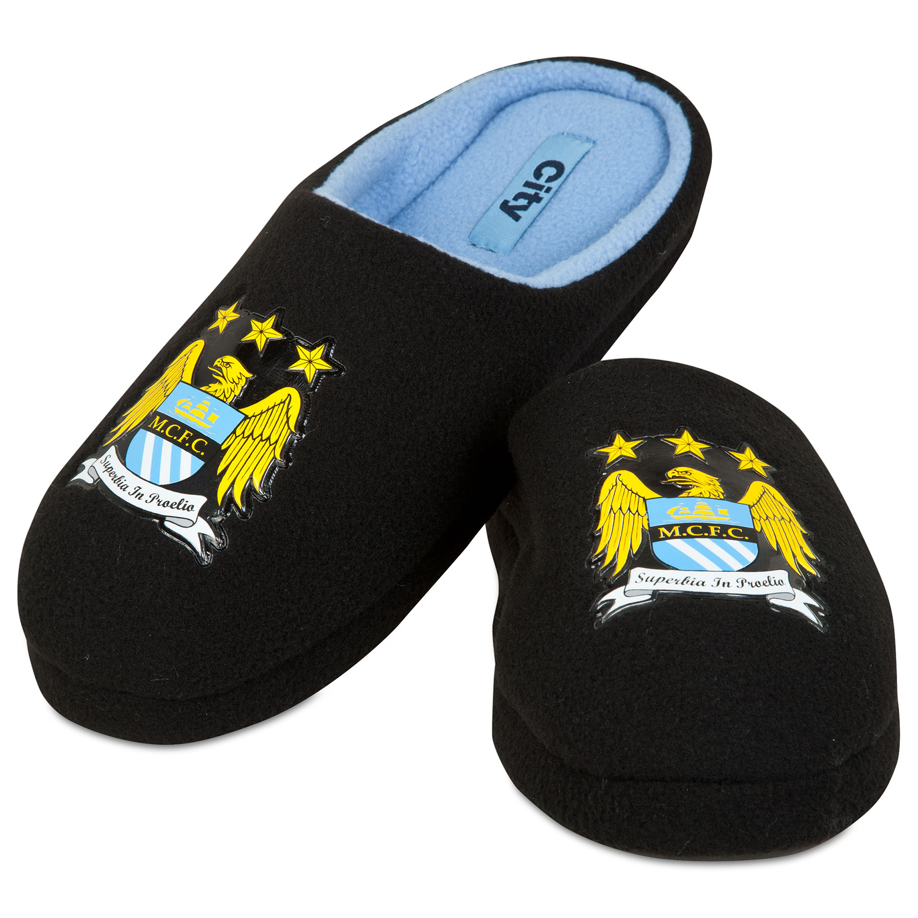 Manchester City Mule Slipper - Black - Mens