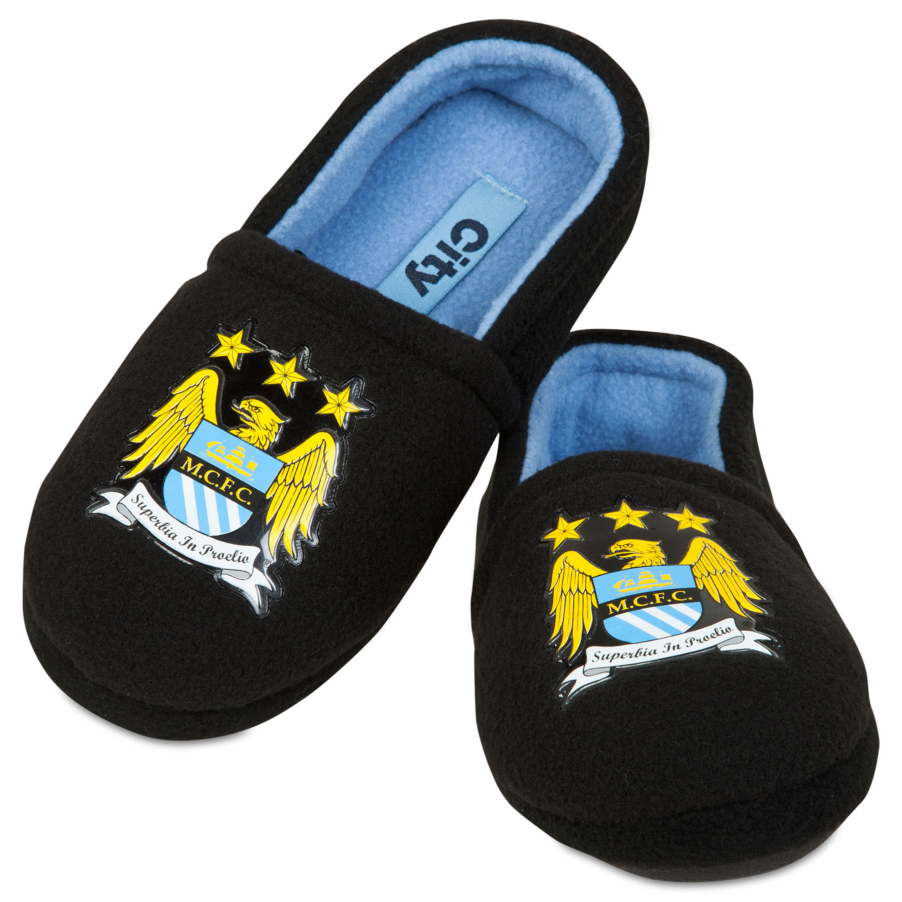 Manchester City Mule Slipper - Black - Boys