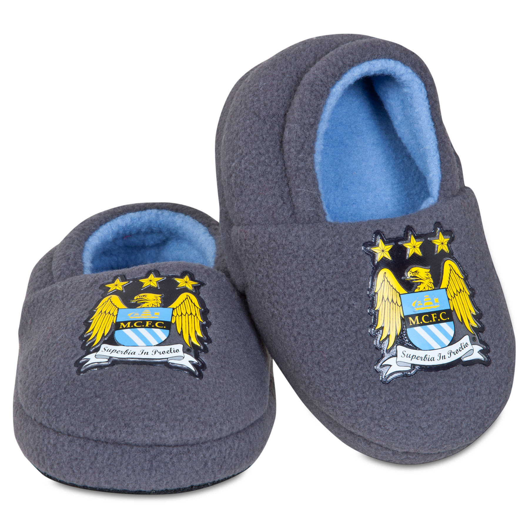 Manchester City Full Heel Slipper - Grey - Infants