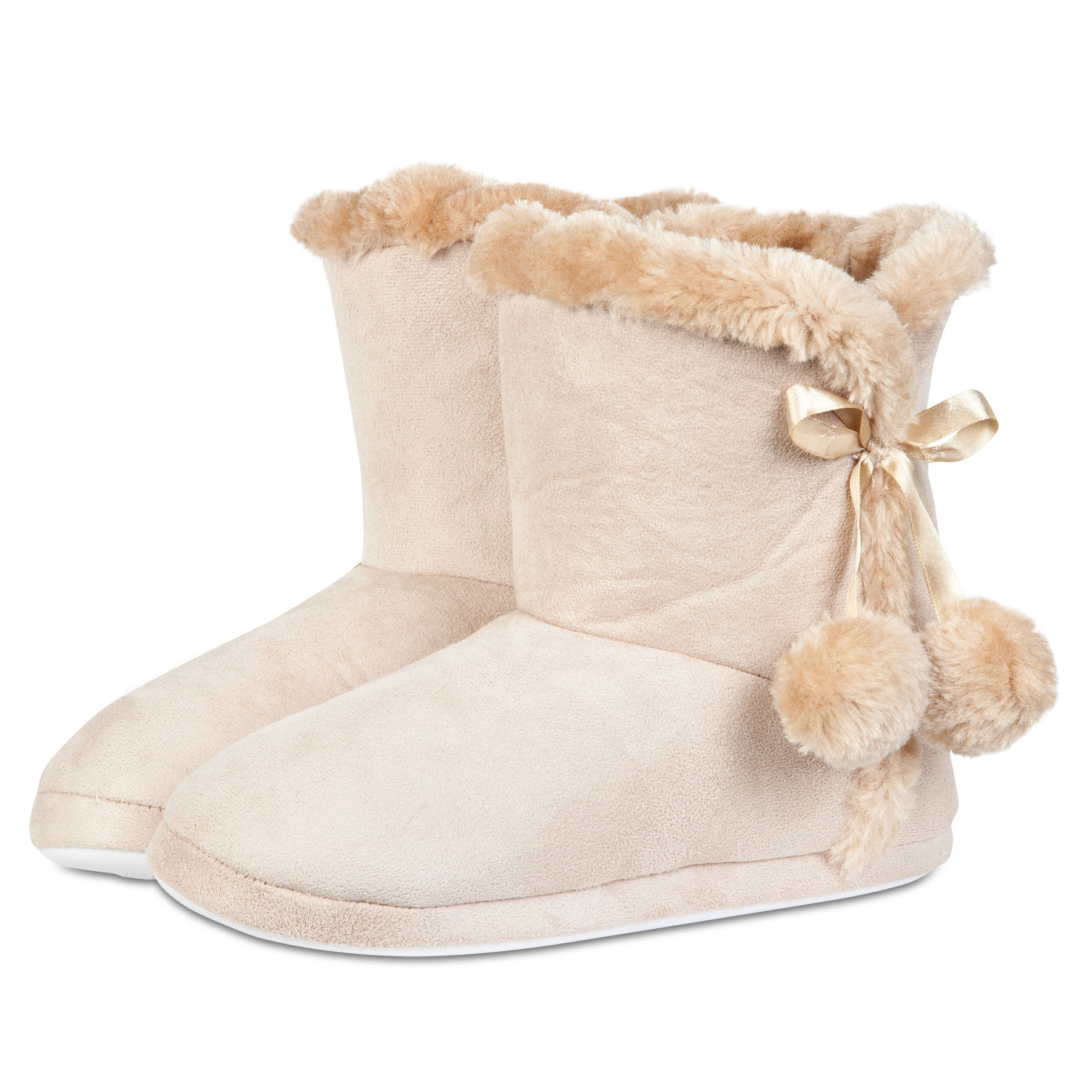 Manchester City Boot Slipper - Tan - Womens