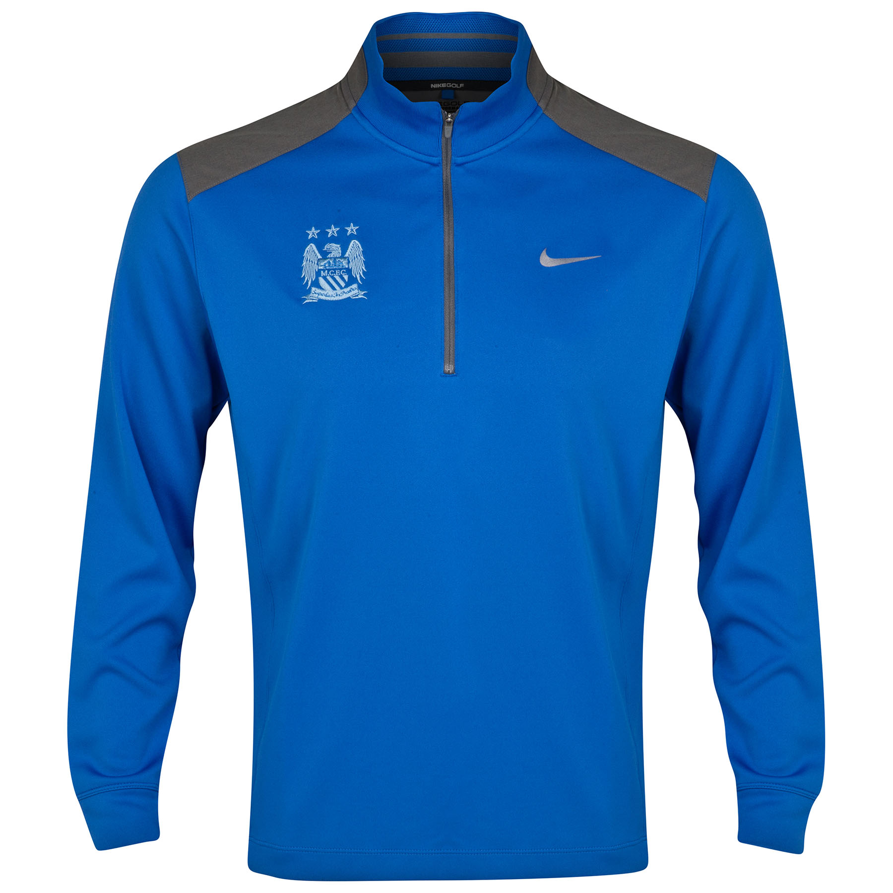 Manchester City Dri-Fit Performance Half Zip Top Royal Blue