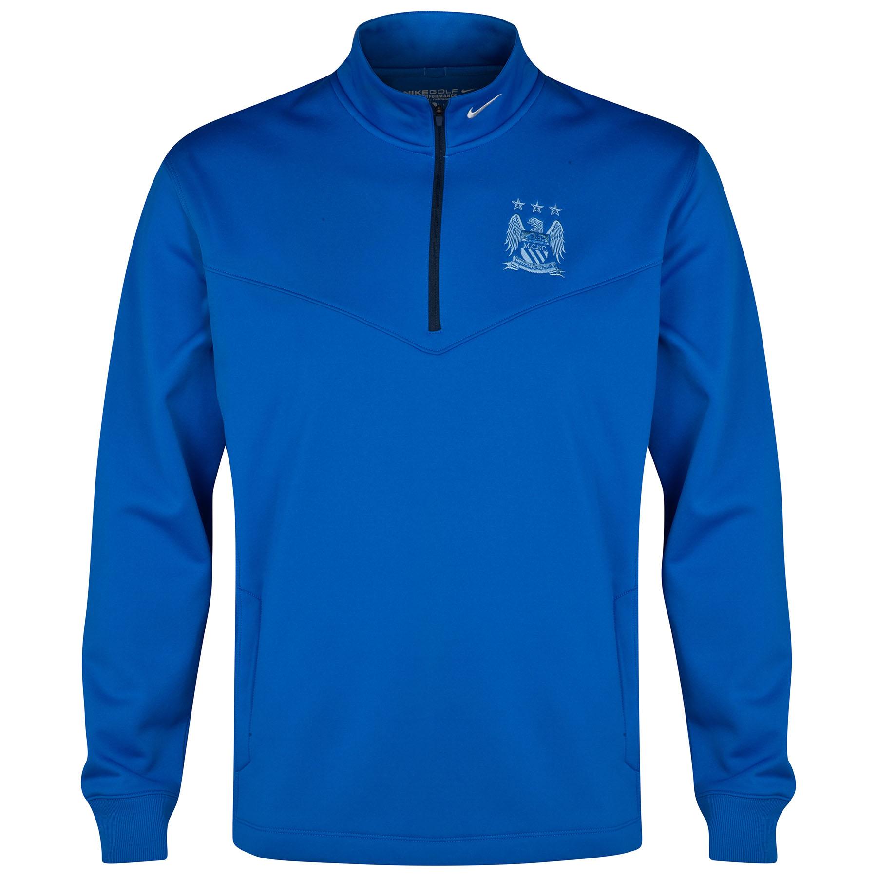 Manchester City Thermal Half Zip Top Royal Blue