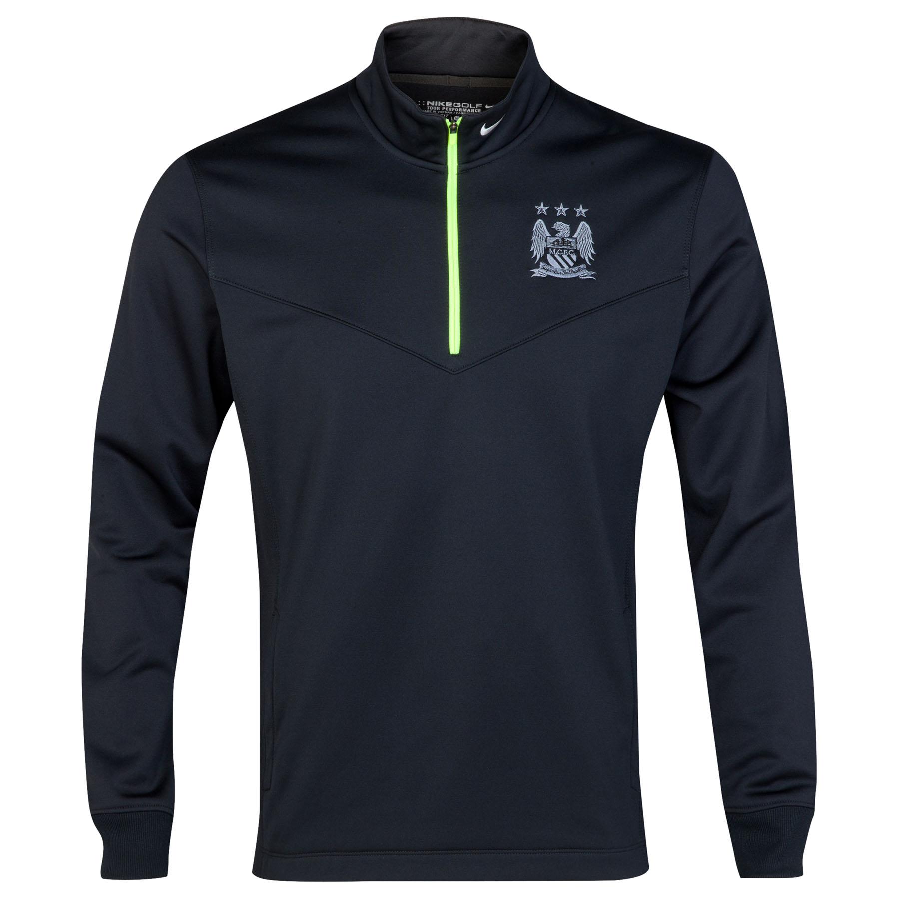 Manchester City Thermal Half Zip Top Black