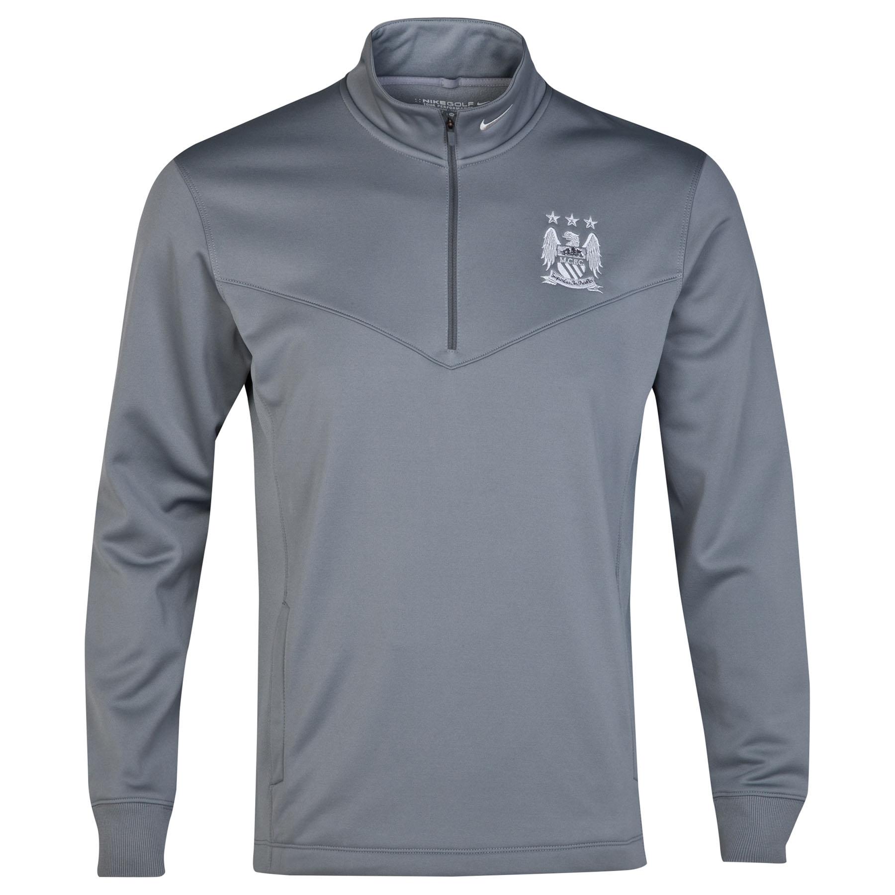 Manchester City Thermal Half Zip Top Grey