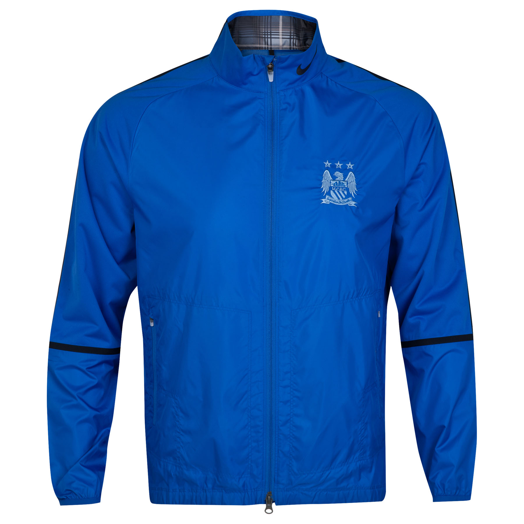 Manchester City Sport Full Zip Wind Jacket Royal Blue