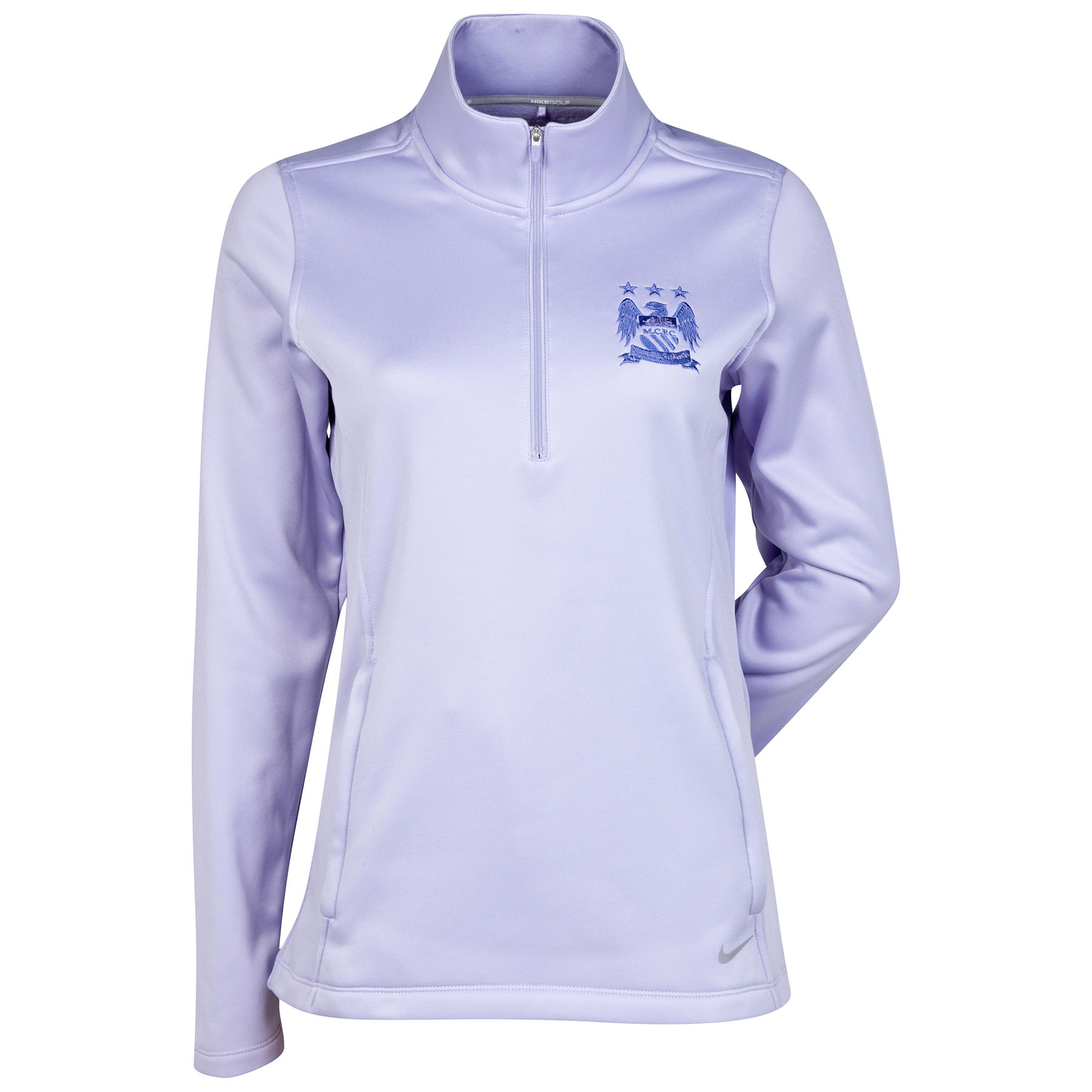 Manchester City Thermal Half Zip Top - Womens Purple