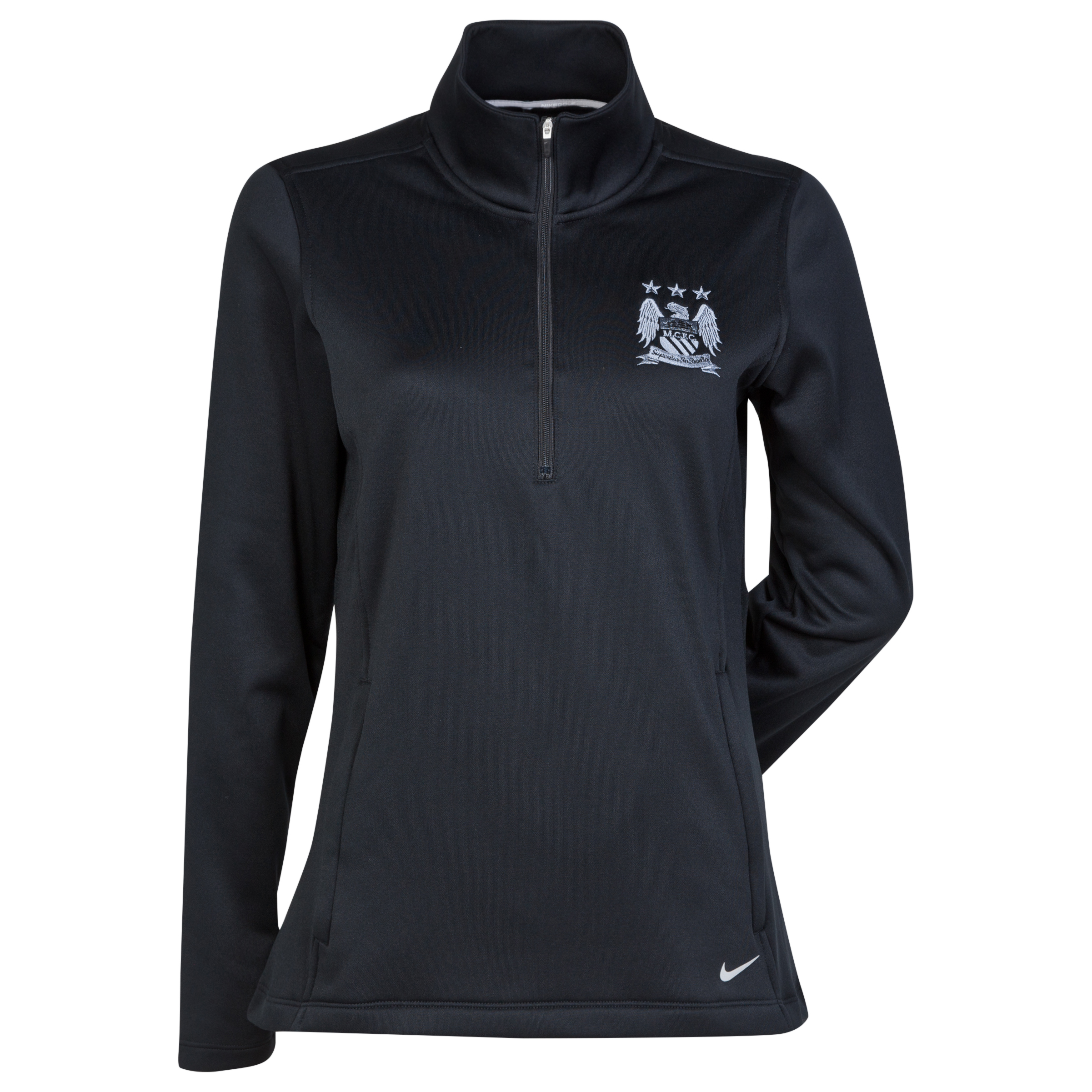 Manchester City Thermal Half Zip Top - Womens Black