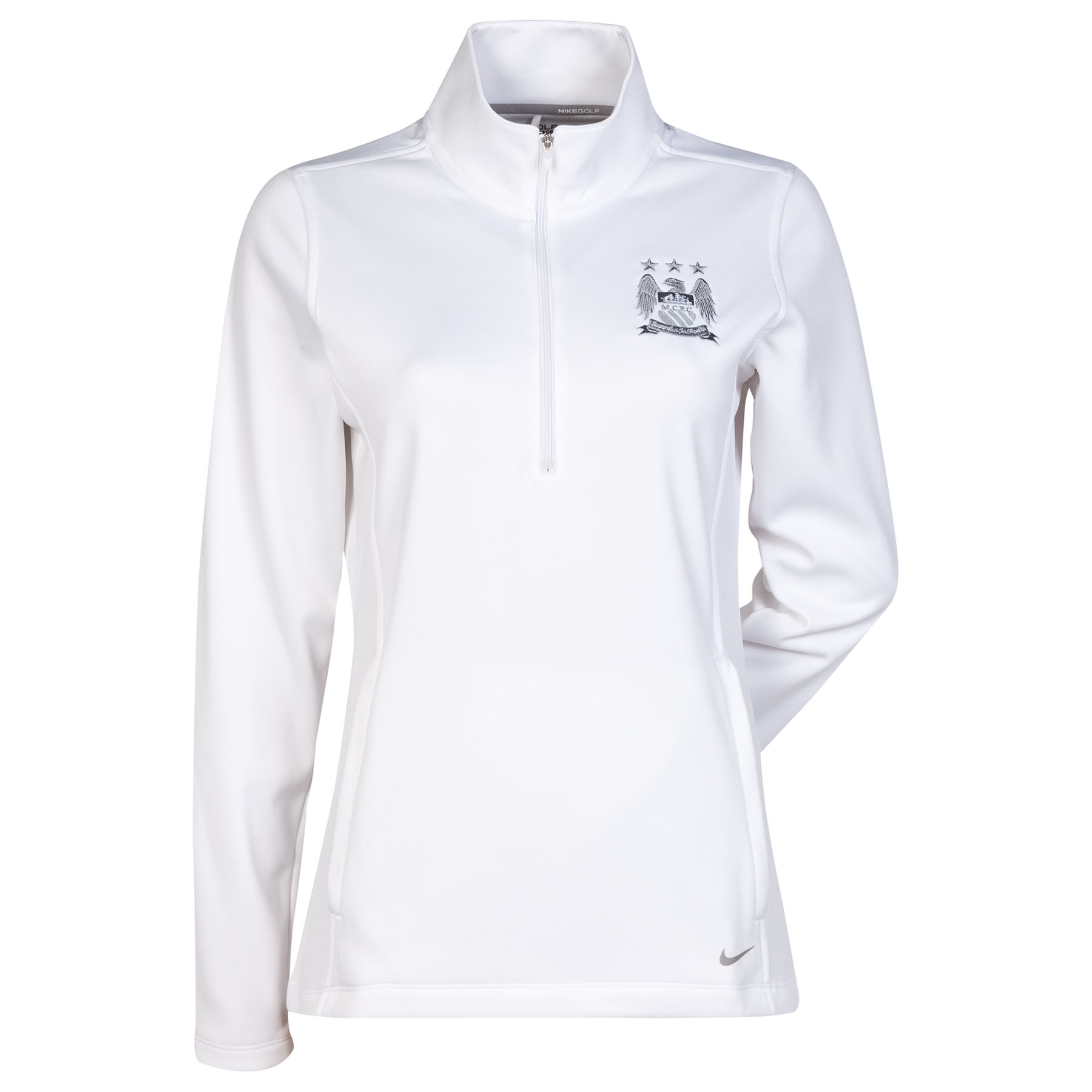 Manchester City Thermal Half Zip Top - Womens White