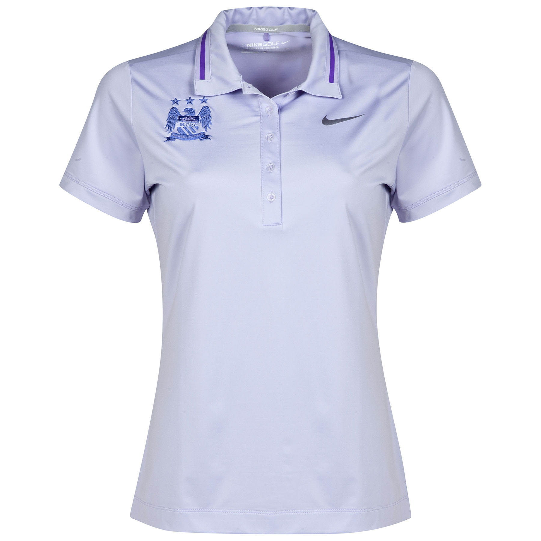 Manchester City Icon Polo - Womens Purple