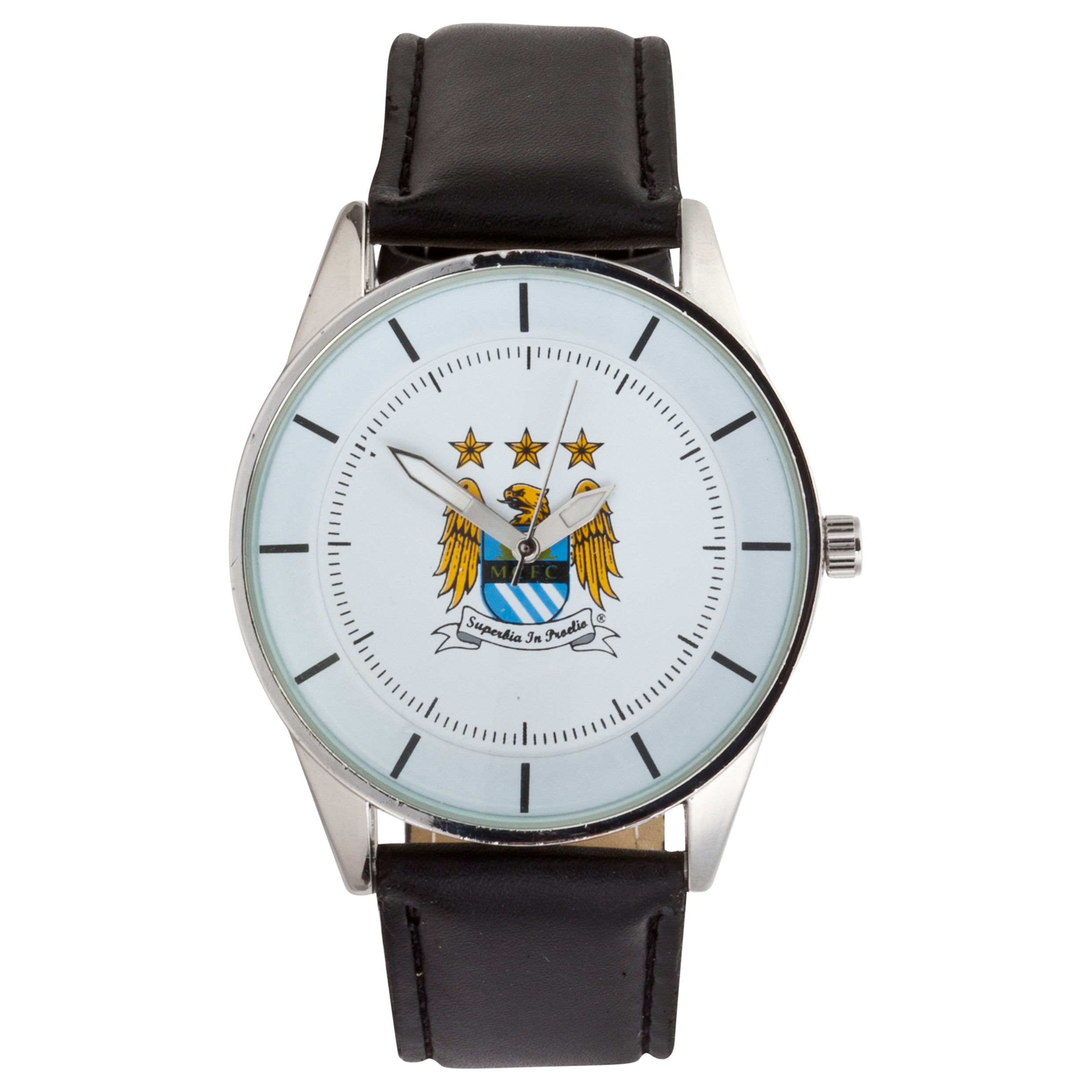Manchester City Mens PU Leather Watch