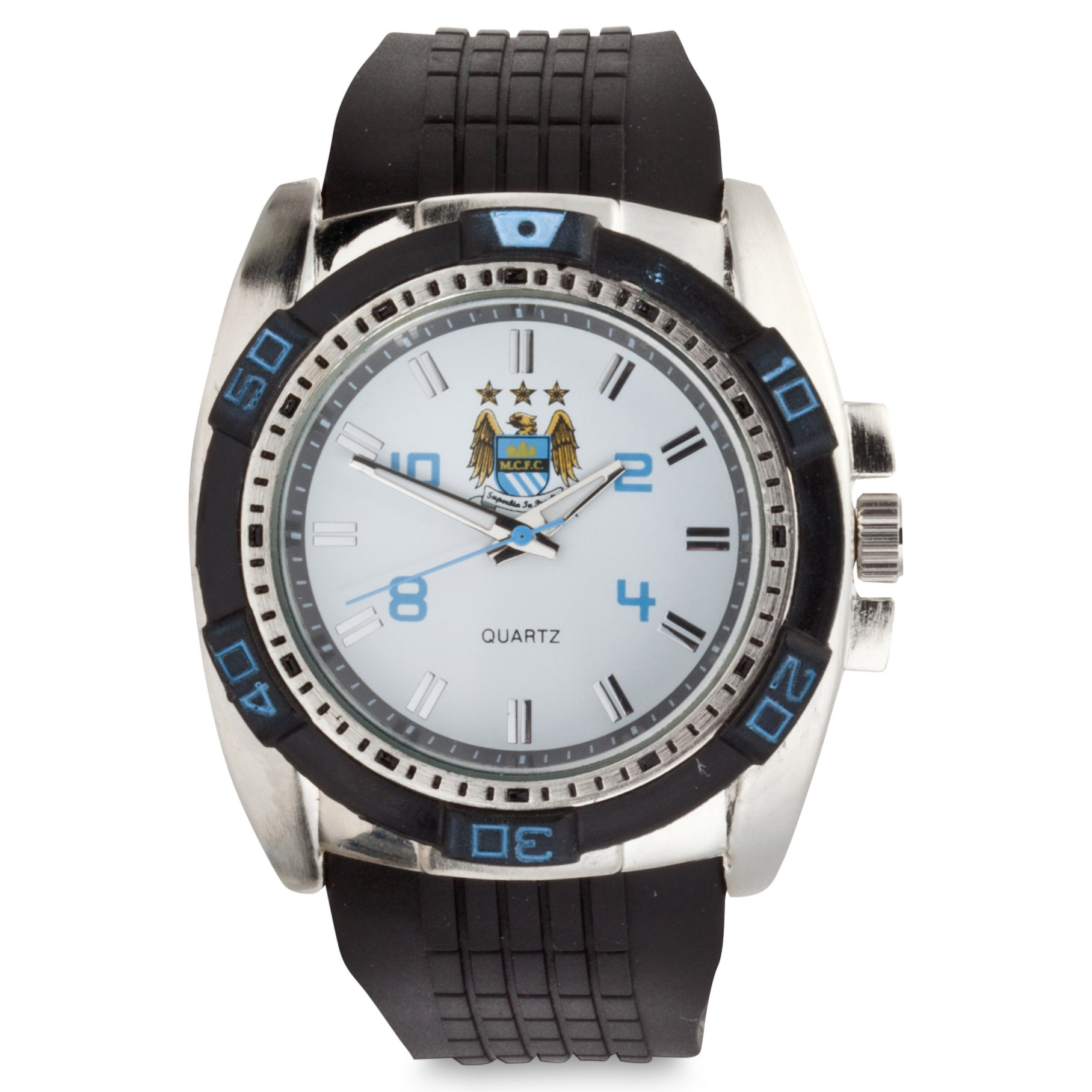 Manchester City Mens Rubber Strap Watch
