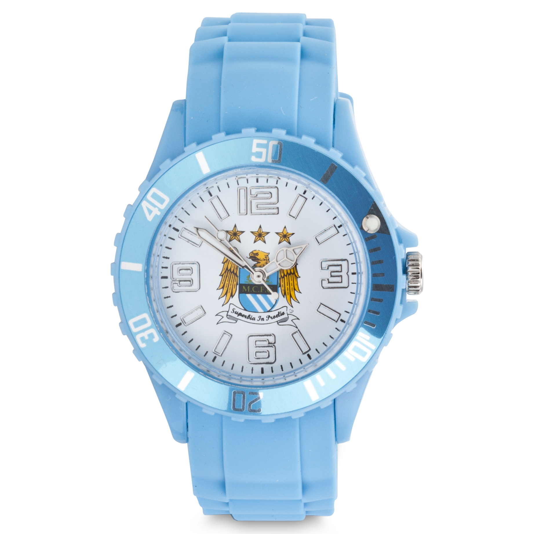 Manchester City Junior Rubber Watch