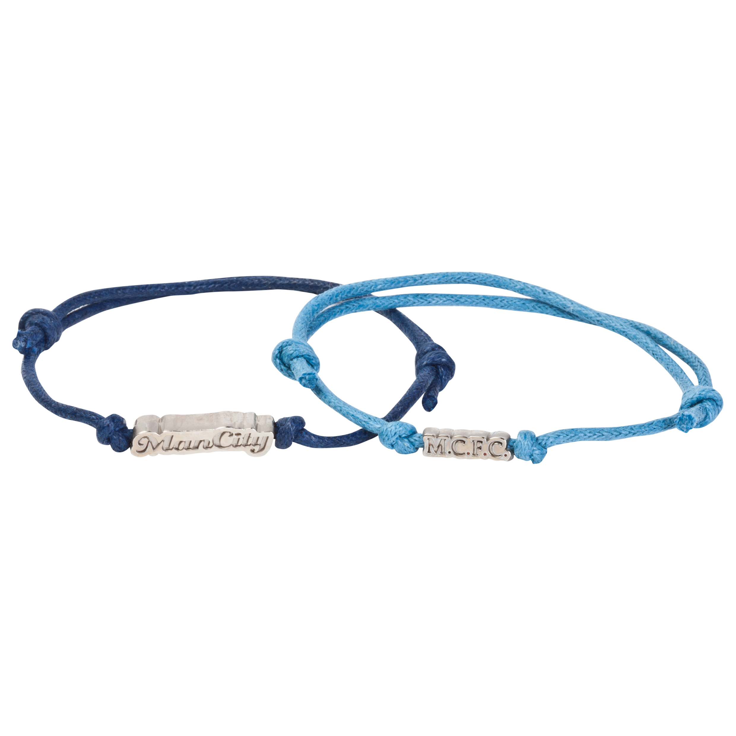 Manchester City Twin Pack Cord Bracelet