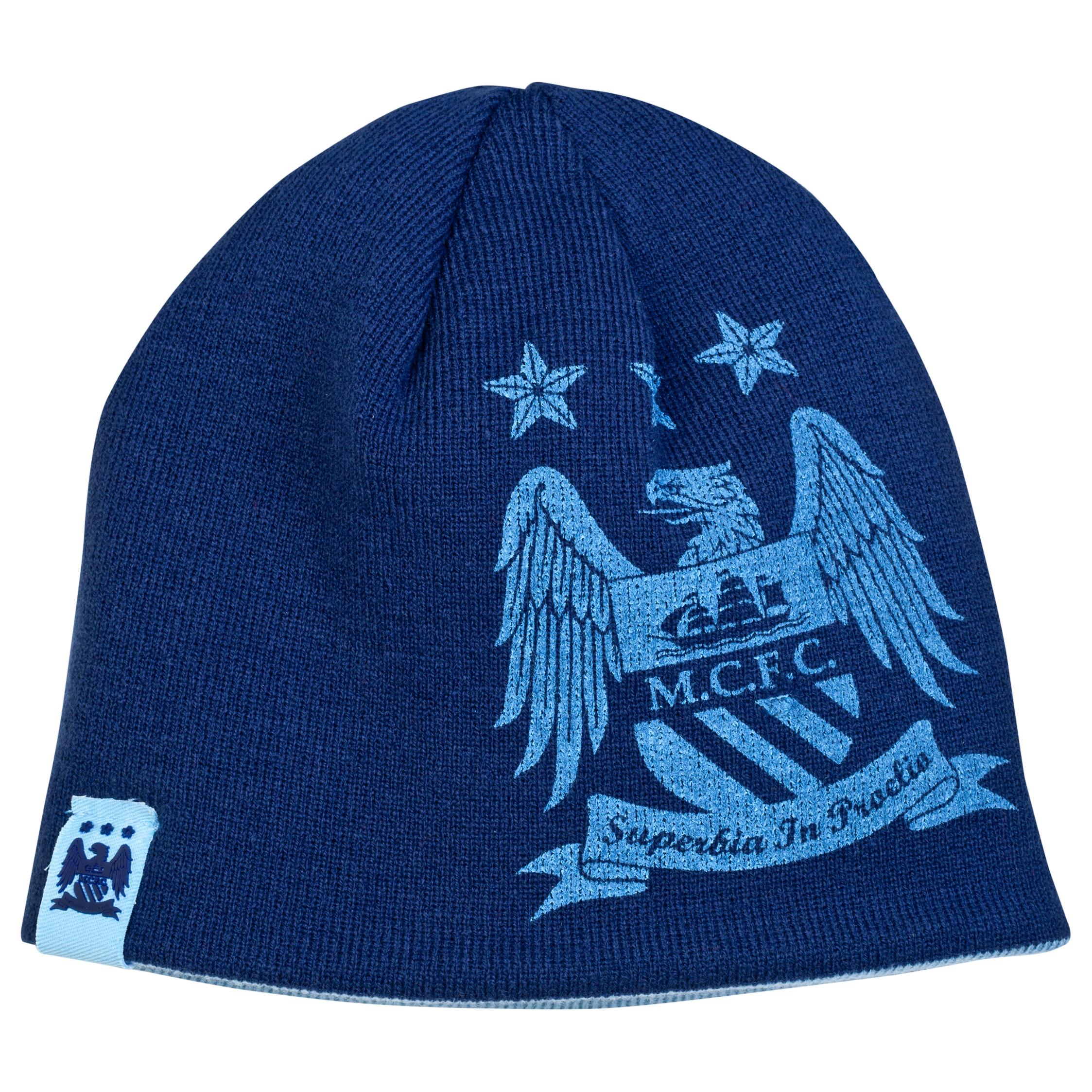 Manchester City Reverse Hat - Sky/Navy - Junior