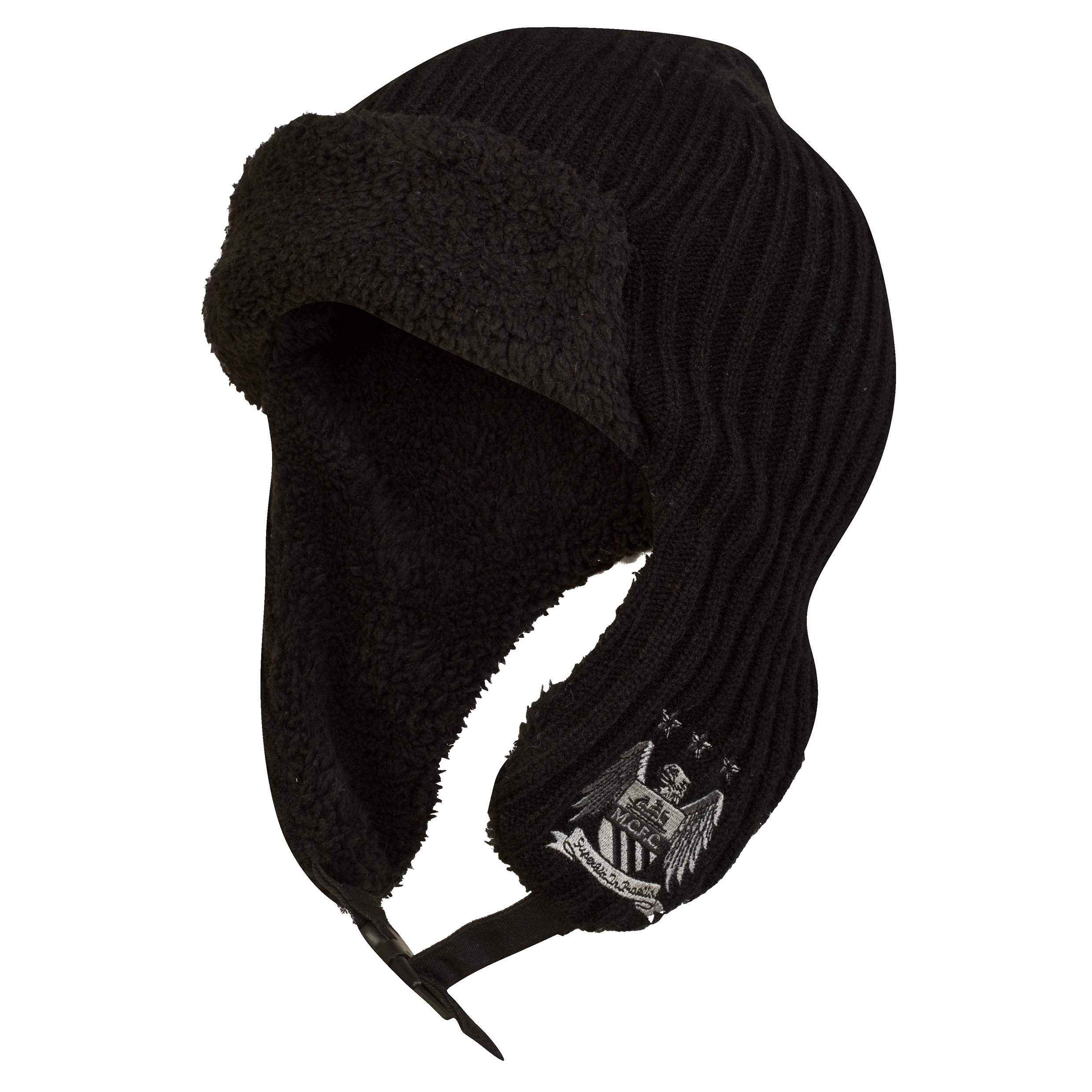 Manchester City Performance Trapper Hat - Black - Adult