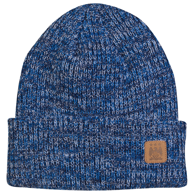 Manchester City Melange Hat - Blue - Adult
