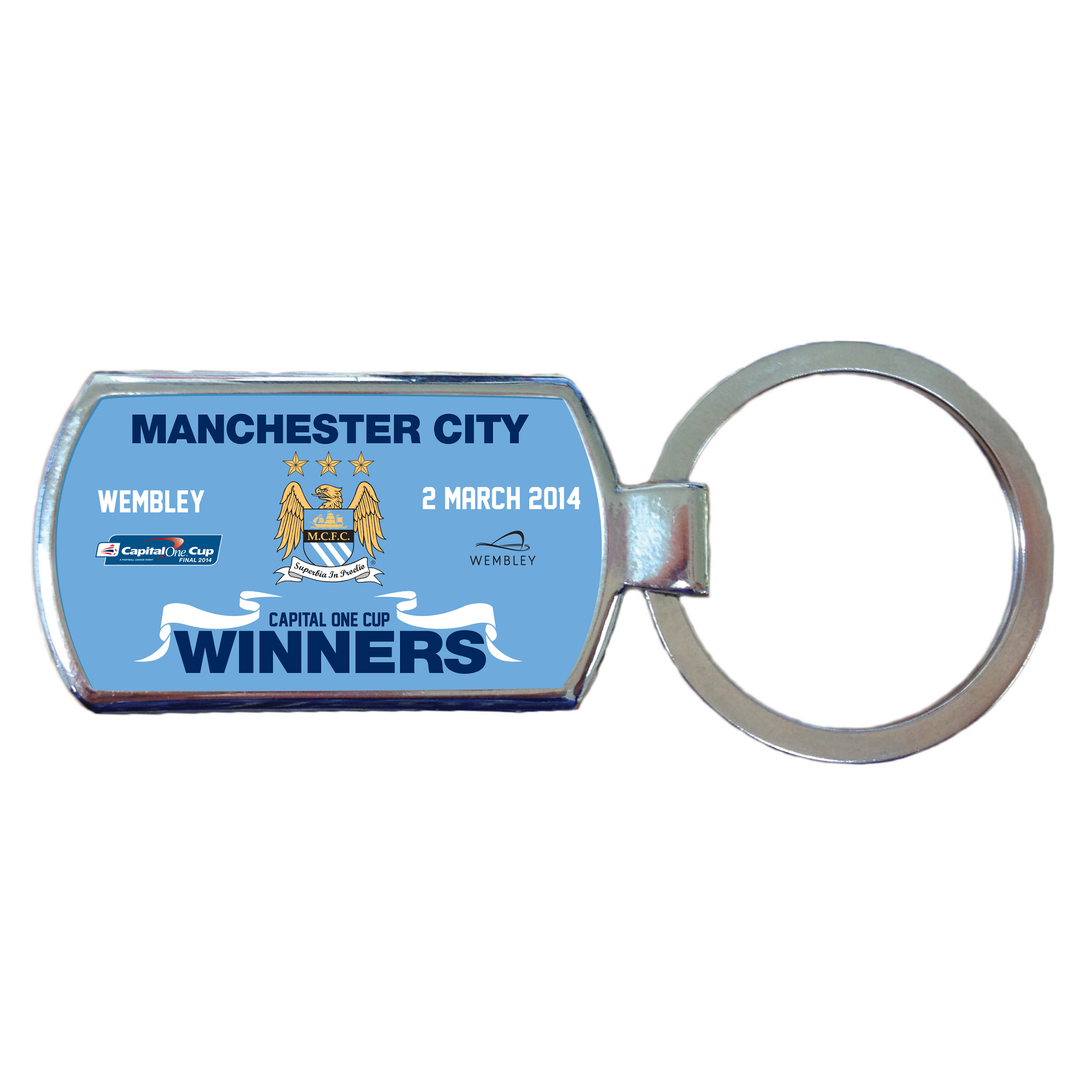 Manchester City Capital One Cup Winners Keyring