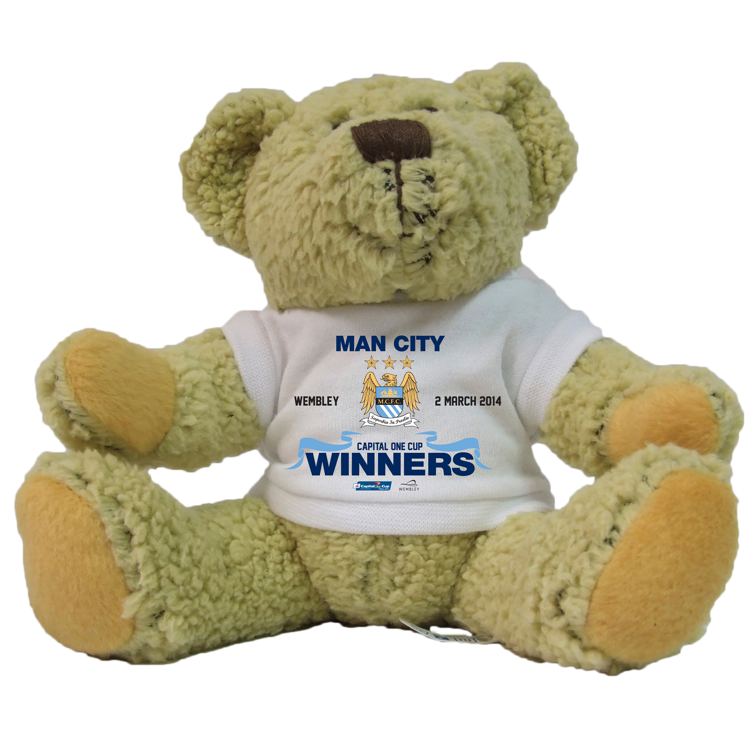 Manchester City Capital One Cup Winners 10inch Bear