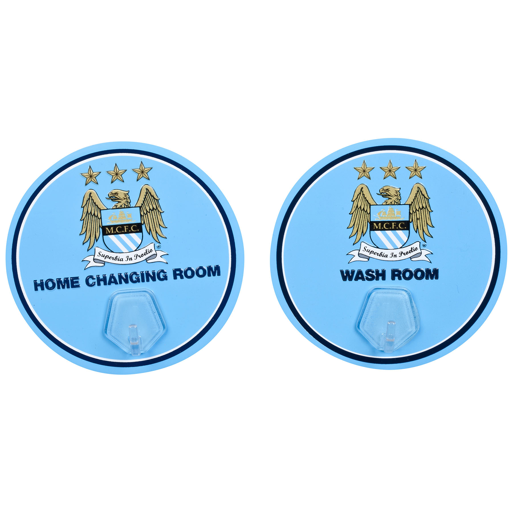 Manchester City Pk of 2 Wall Hangers